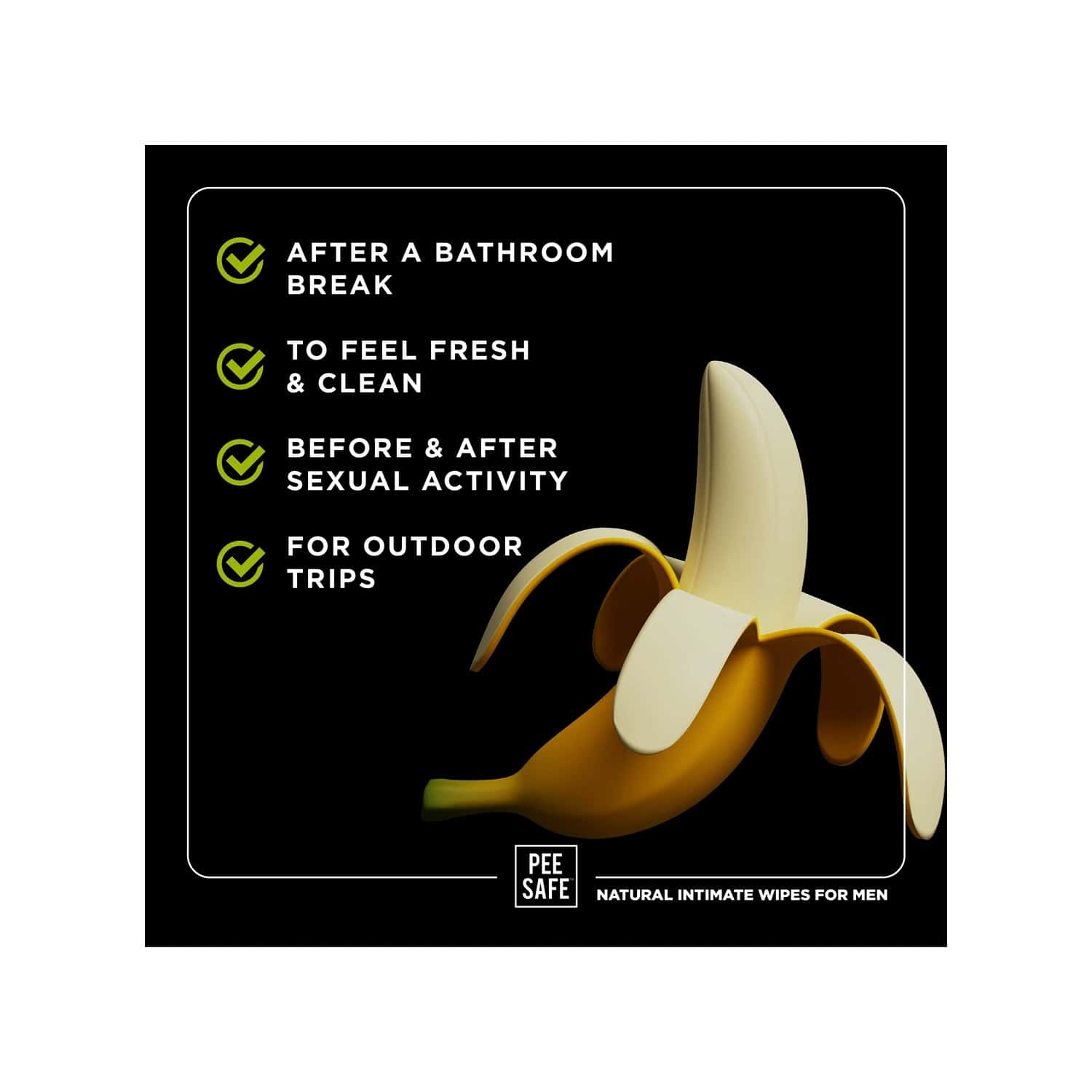 Pee Safe Intimate Wipes For Men, Biodegradable, Ph Balanced - 40 Wipes (pack Of 4)