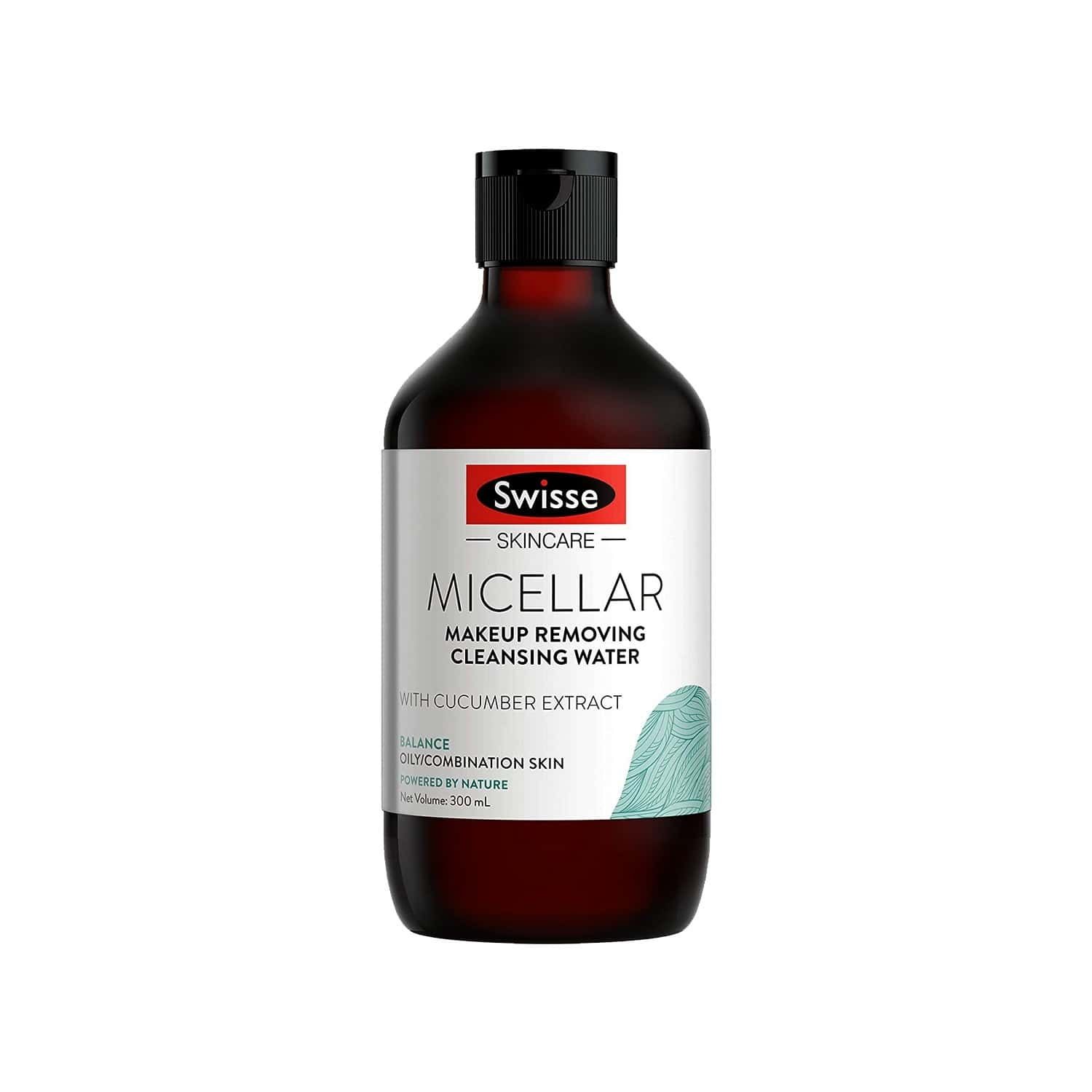 Swisse Skincare Balanced Micellar Cleansing & Makeup Removing Water With Cucumber Extract - 300ml (for Oily/combination Skin)