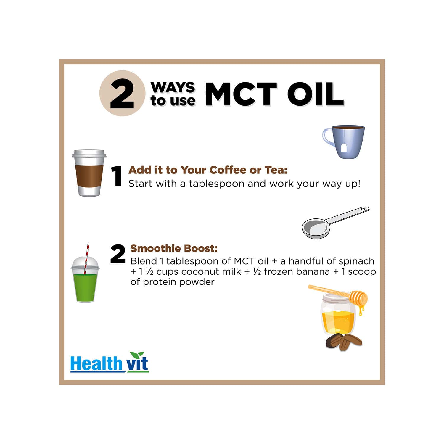"""""""healthvit Mct Oil From Coconut Oil Unsweetened Keto Diet Sports"""