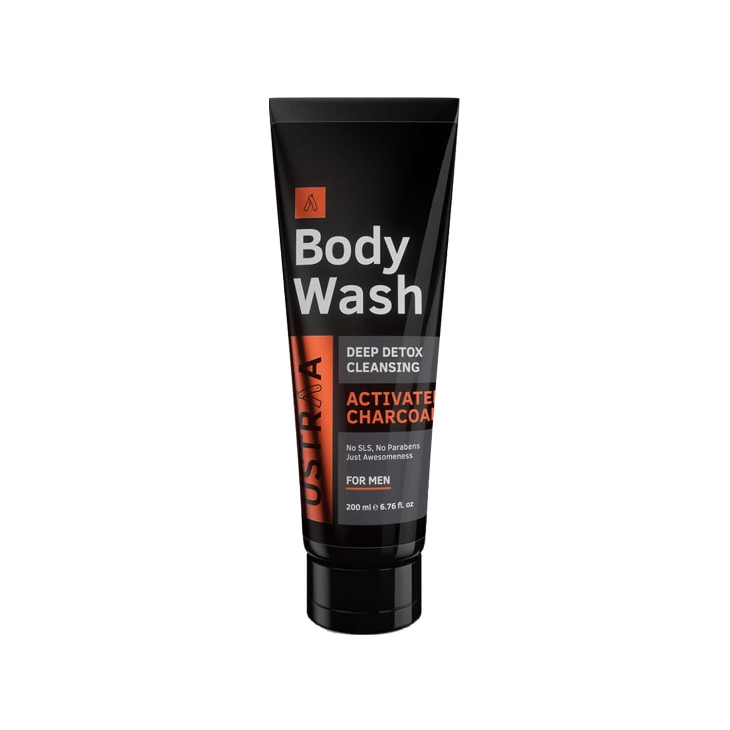 Ustraa Body Wash - Activated Charcoal - 200 Ml (pack Of 2)