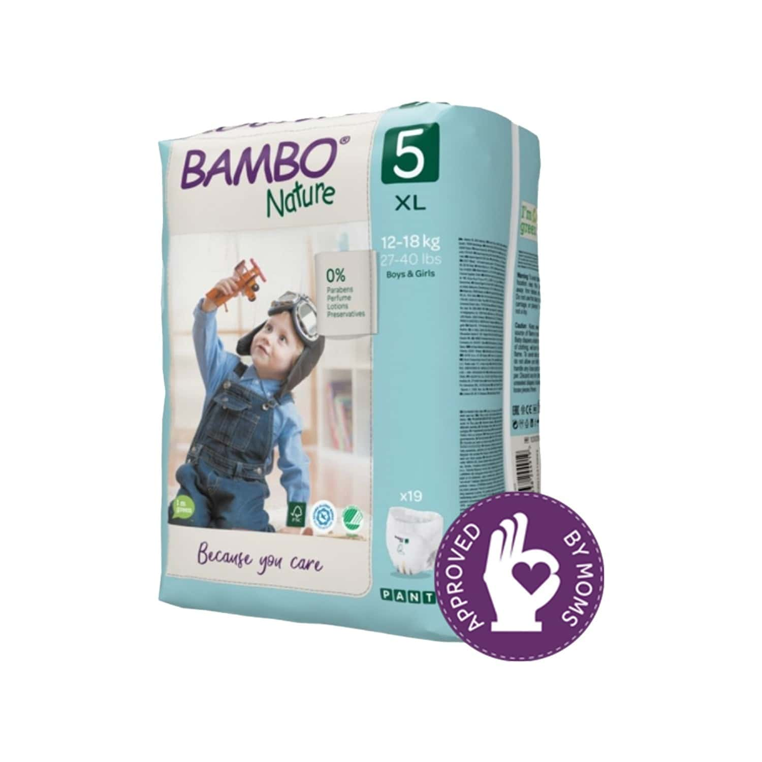 Bambo Nature Xl Size Training Pants With Wetness Indicator - 19 Diapers