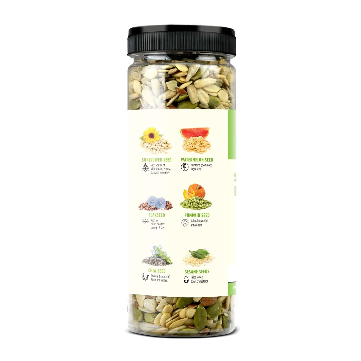 Liveasy Foods Healthy Seed Mix- Blend Of 6 Fibre Rich Healthy Seeds