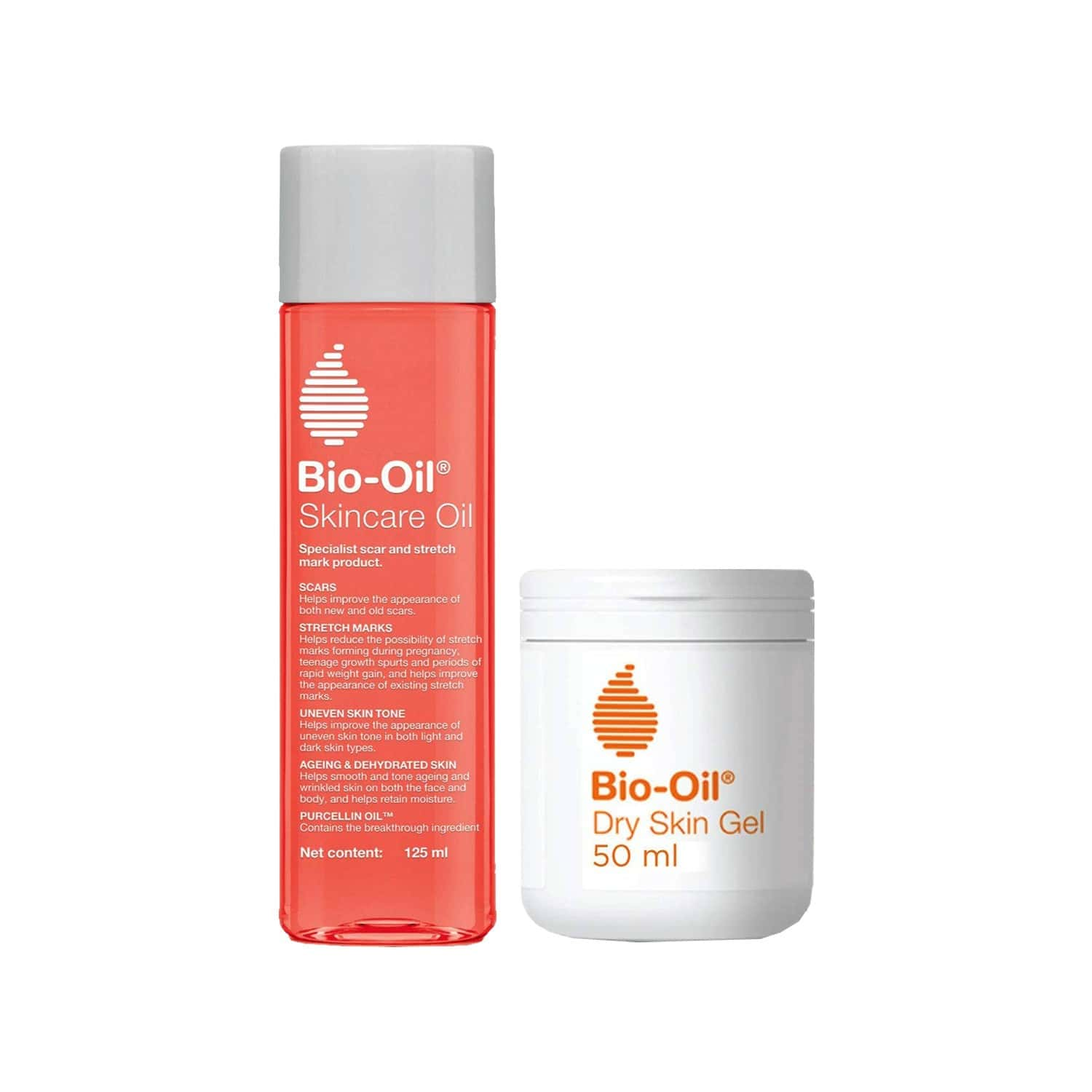 Bio-oil Skincare Oil (125 Ml) And Dry Skin Gel (50 Ml) Perfect Skin Combo For Moisturized, Flawless Skin - Face And Body