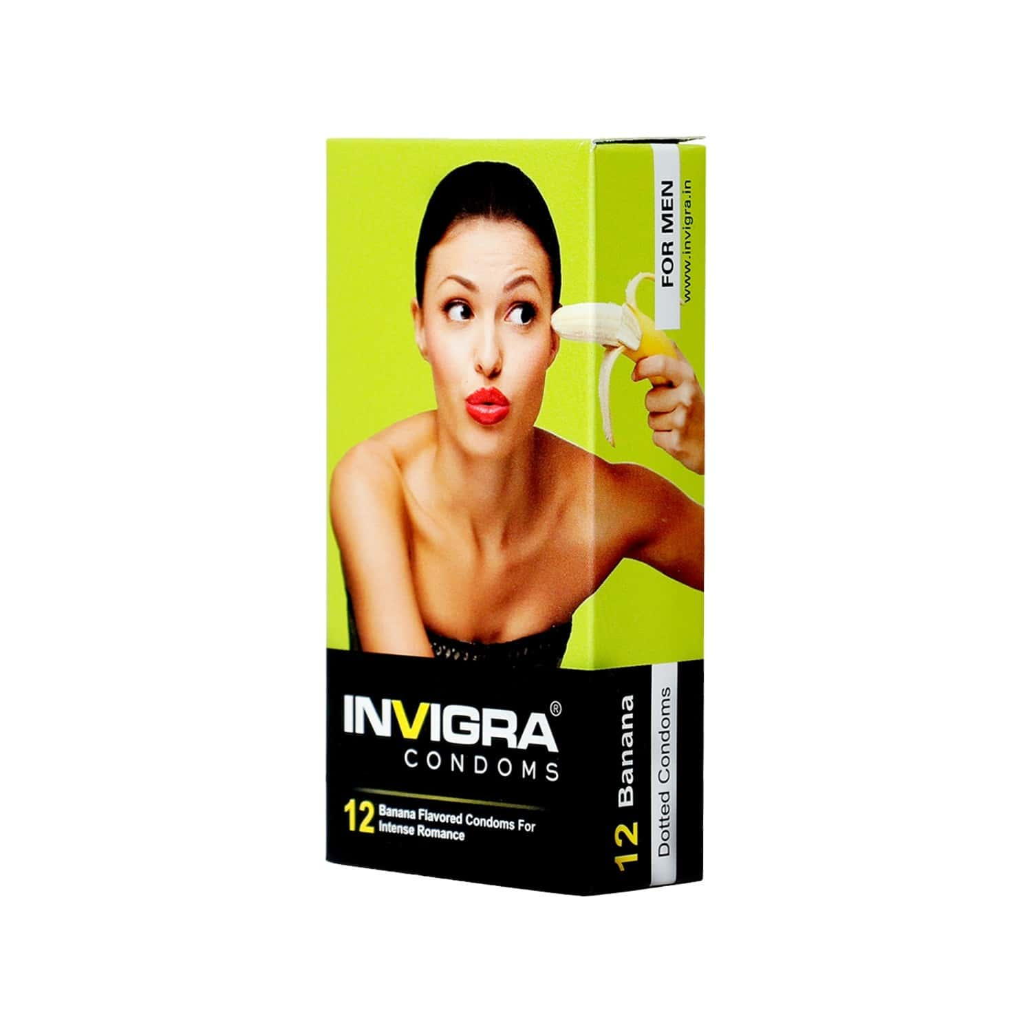 Invigra Banana Condoms -12 Condoms