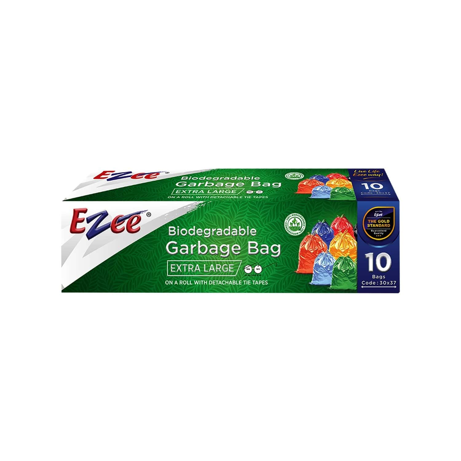 Ezee Bio-degradable  Garbage Bags (30 X 37 Inches) Packet Of 10 Extra Large
