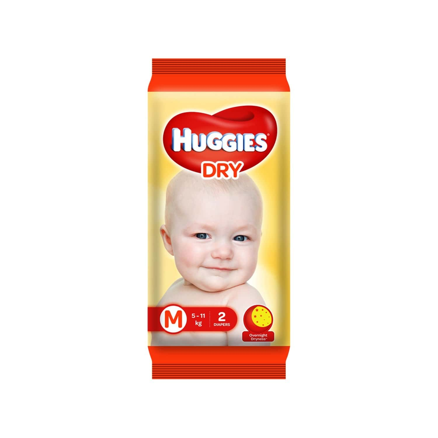 Huggies Dry Tape Diapers ( Medium Size) - 2 Count