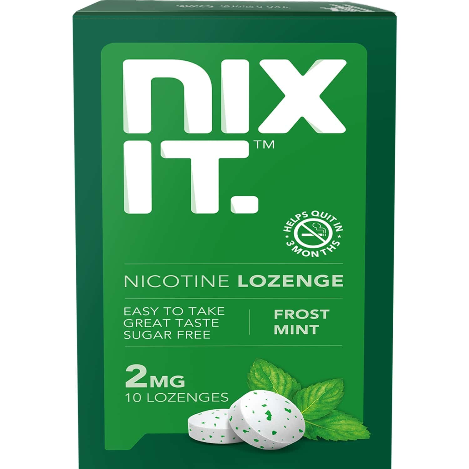 Nixit Nicotine Frost Mint Lozenges 2mg, Sugar Free (pack Of 5) - Helps Quit Smoking