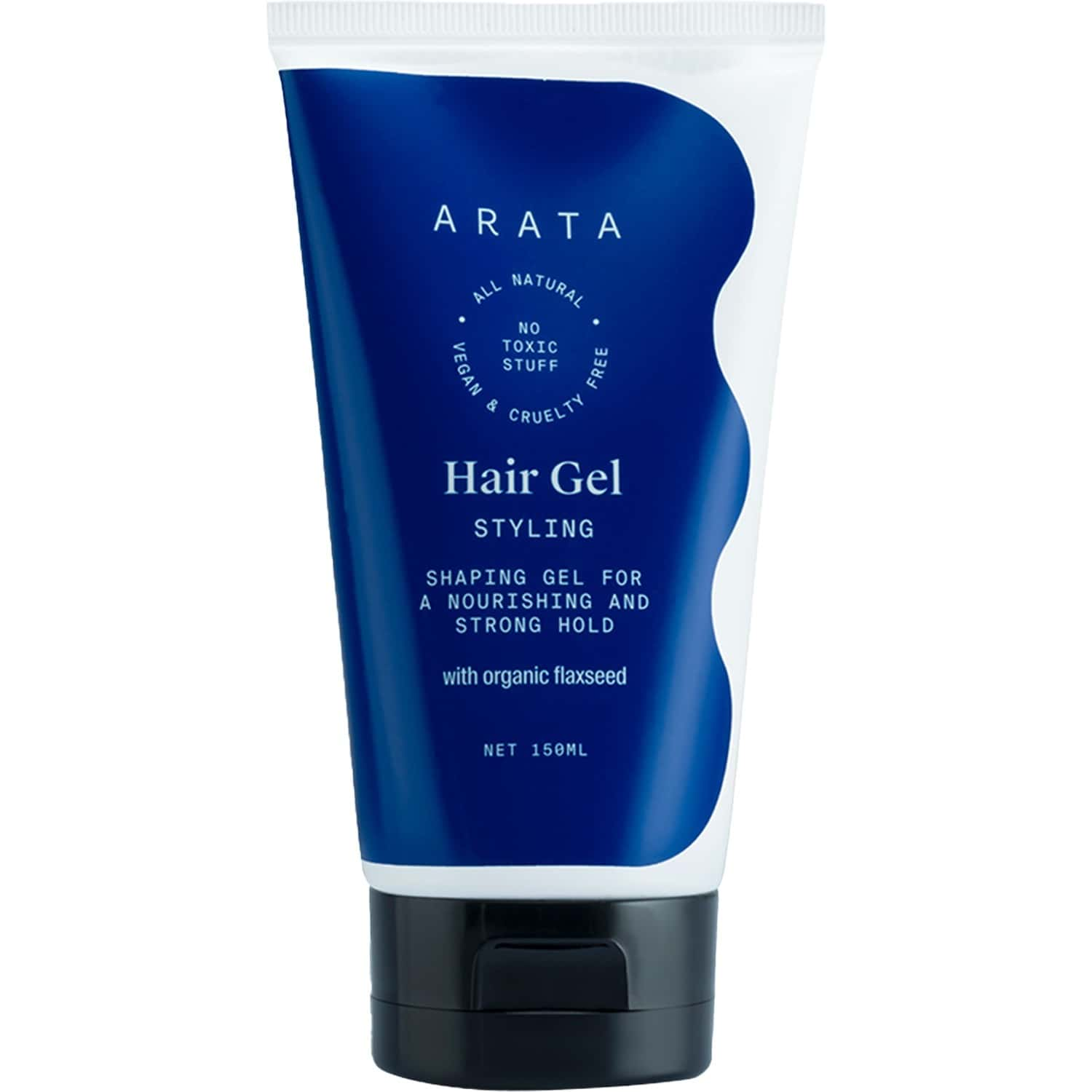 Arata Natural Hair Gel For Studio Styling,shaping,strong Hold & Nourishment With Organic Flaxseed & Olive Extracts For Women & Men- (150 Ml)