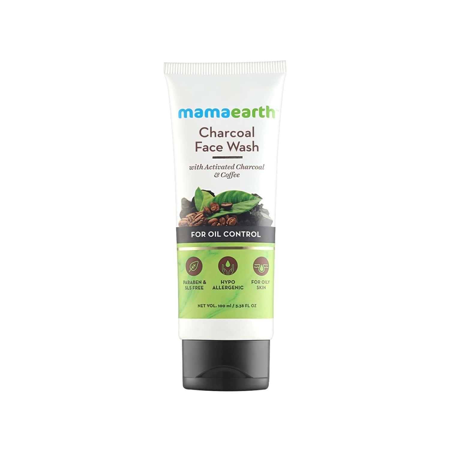 Mamaearth Charcoal Natural Face Wash For Oil Control And Pollution Defence - 100ml (pack Of 2)