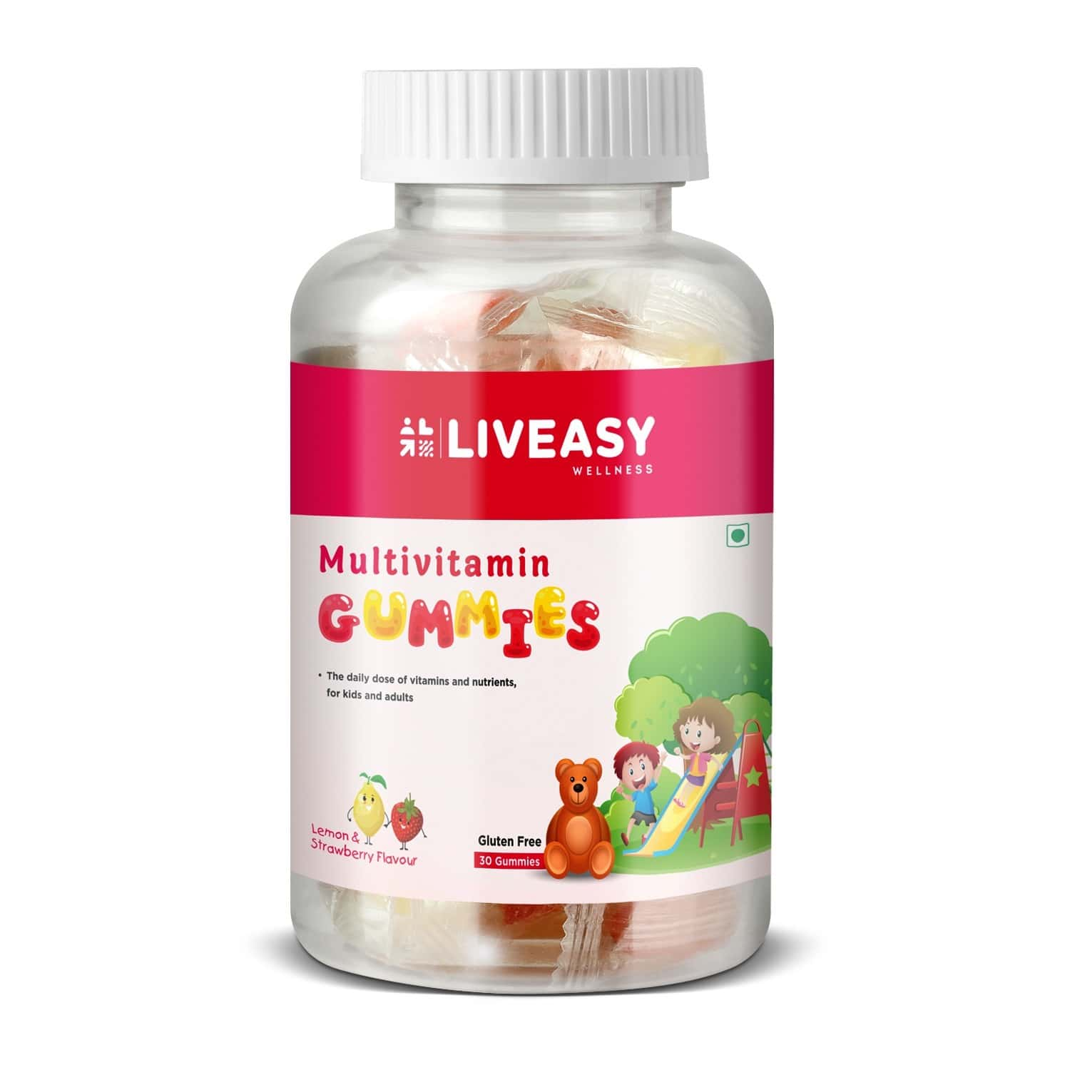 Liveasy Wellness Multivitamin Gummies For Kids And Adults- Pack Of 30