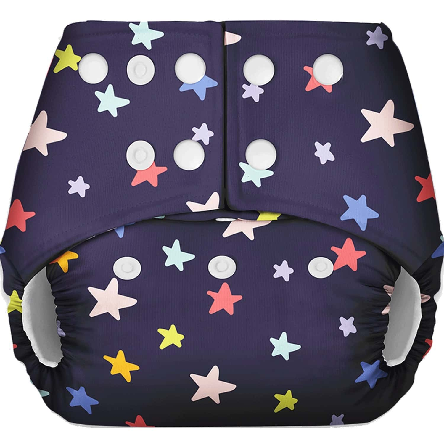 Basic - Freesize Reusable Pocket Cloth Diaper For Babies-with Dry Feel Insert - Black Star