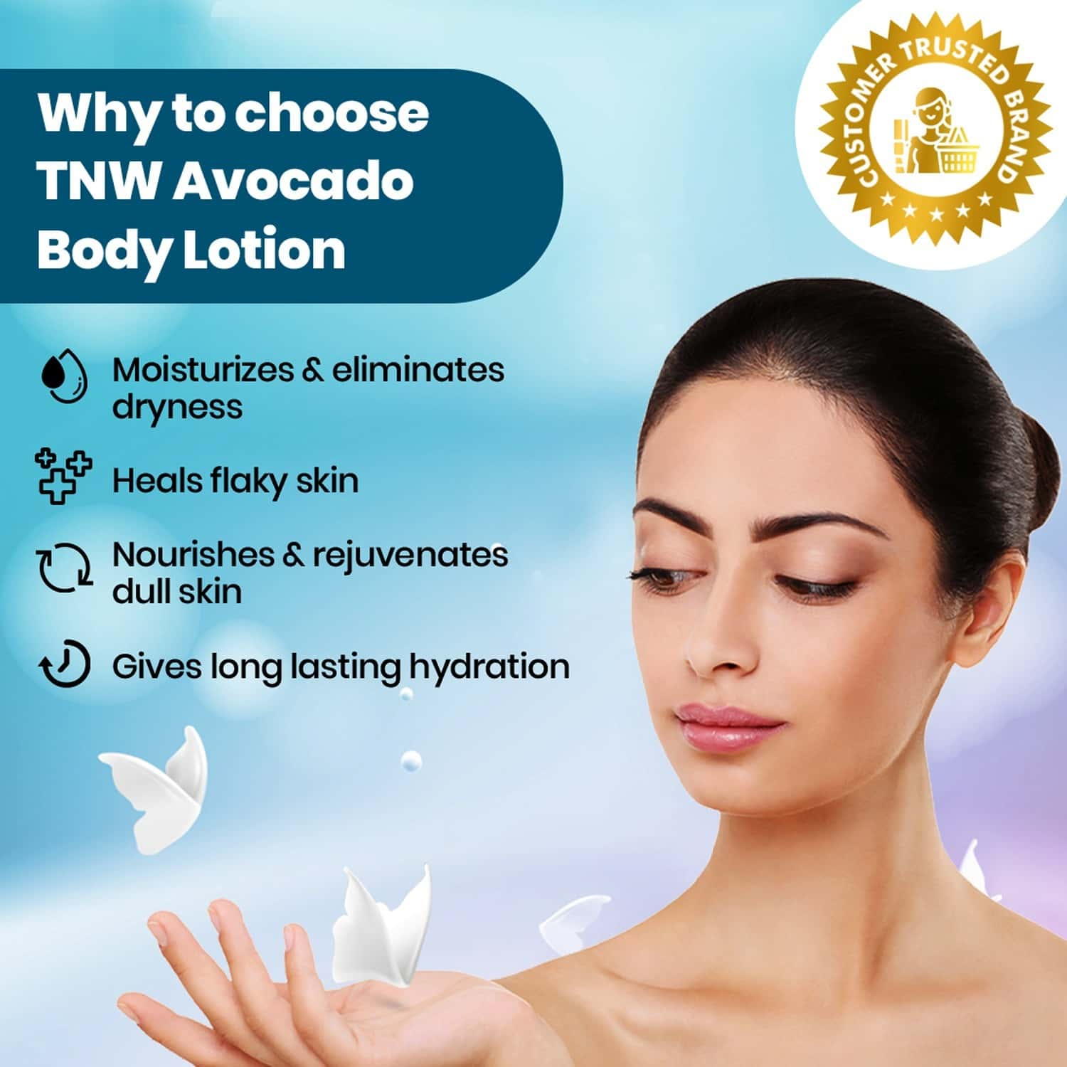 Tnw -the Natural Wash Avocado Moisturizing Lotion With Argan Oil For All Skin Type - 100 Ml