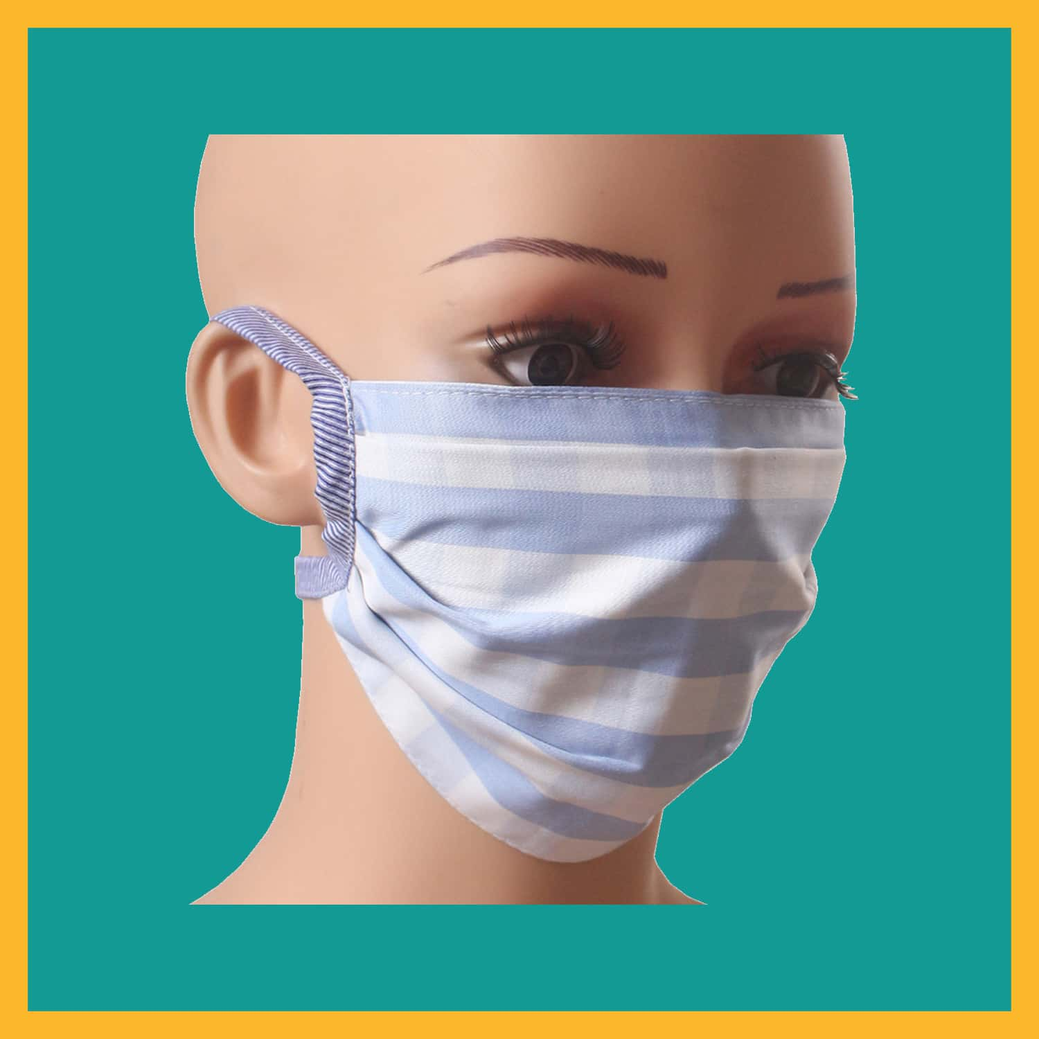 Hand Made Reusable Cotton Mask Pack Of 5
