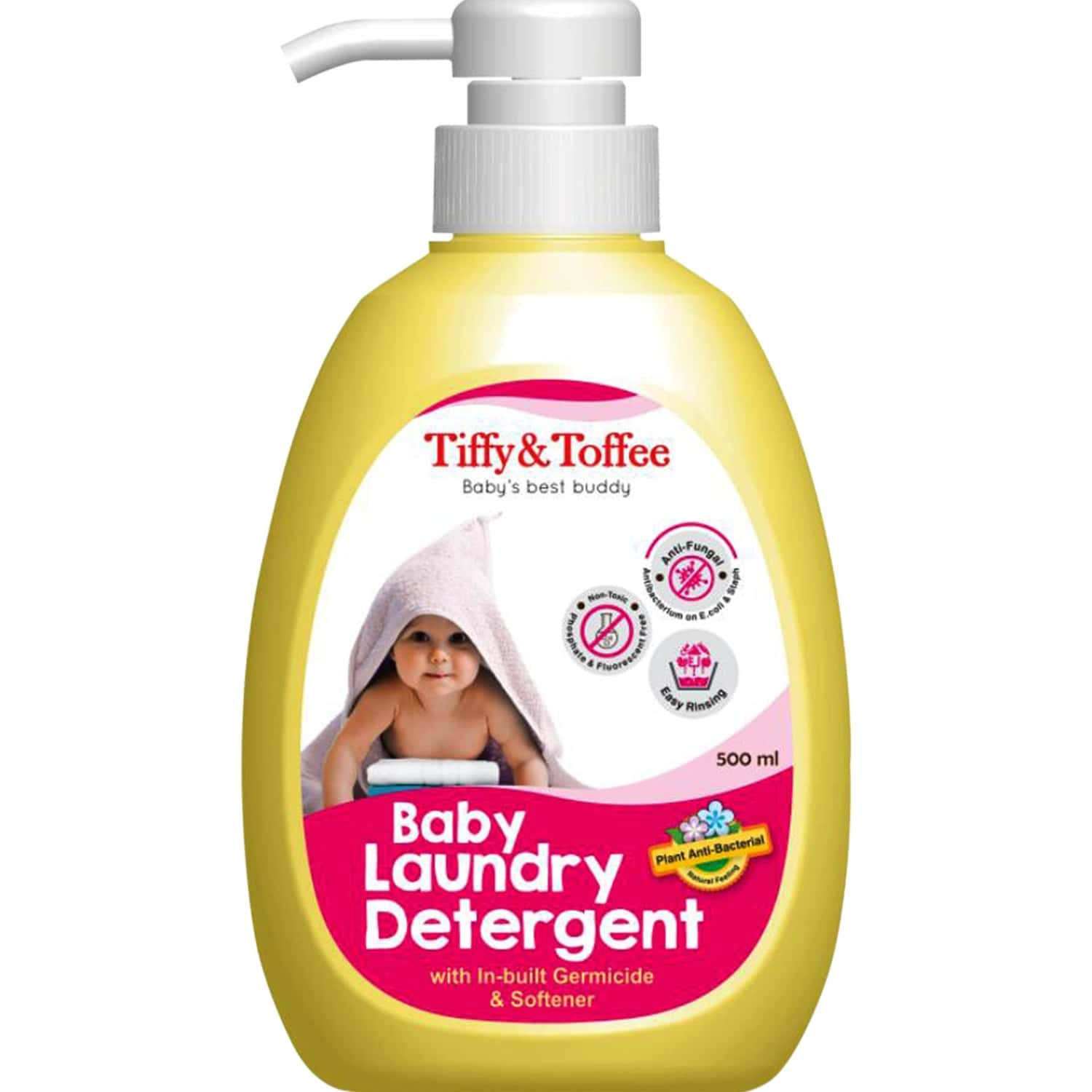 Tiffy & Toffee Baby Laundry Detergent With In-built Germicide And Softener - 500ml
