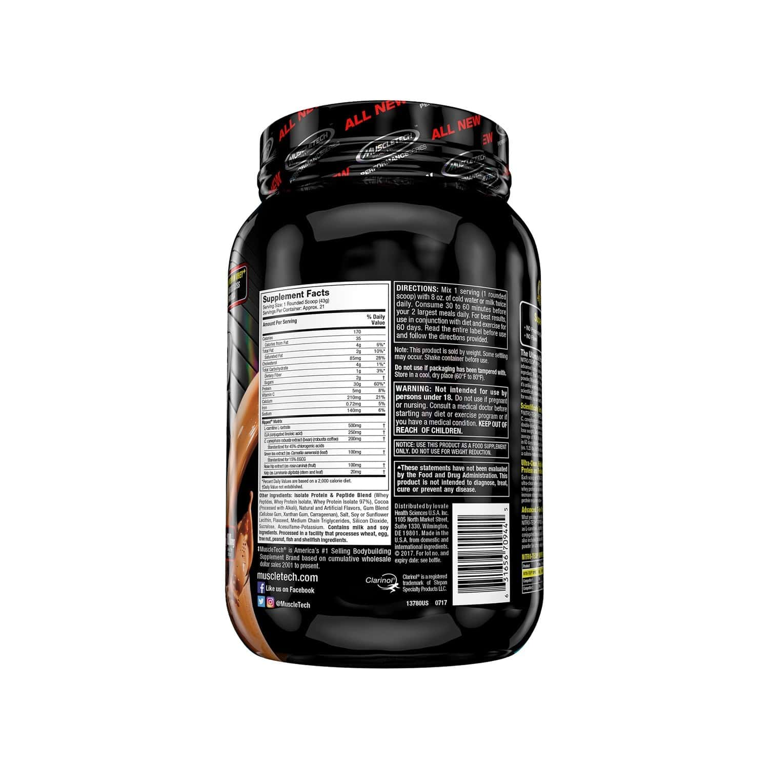 Muscletech Chocolate Protein Powder For Weight Loss - 1000 Gm