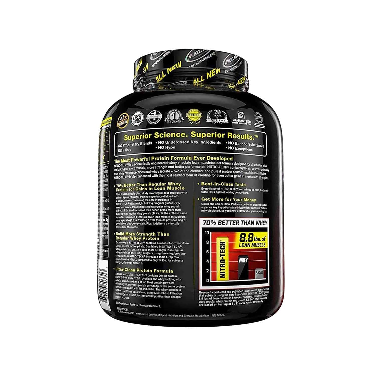 Muscletech Cookies And Cream Nitro Tech - 3000 Gm