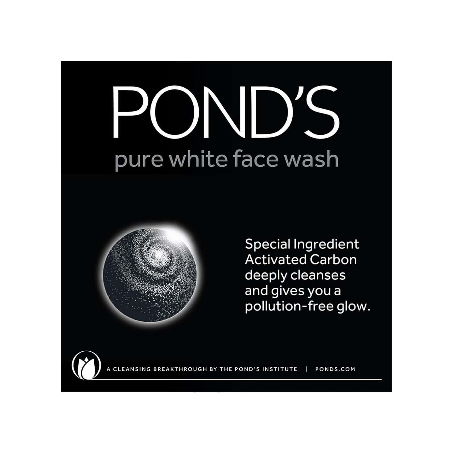 Pond's Pure White Anti Pollution Face Wash-50 G