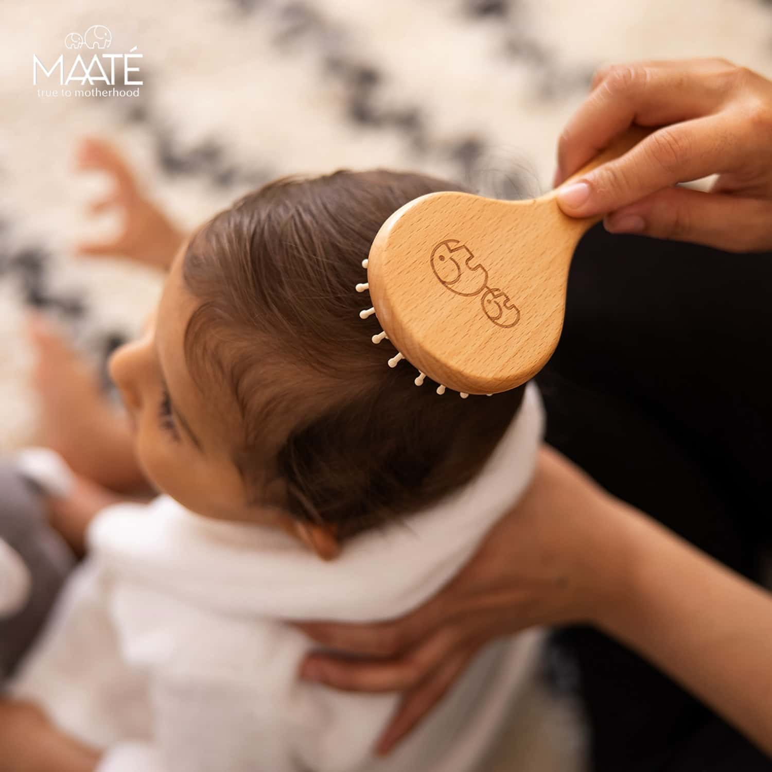 Maate Baby Wooden Comb Gift Box I Baby Wooden Hair Brush