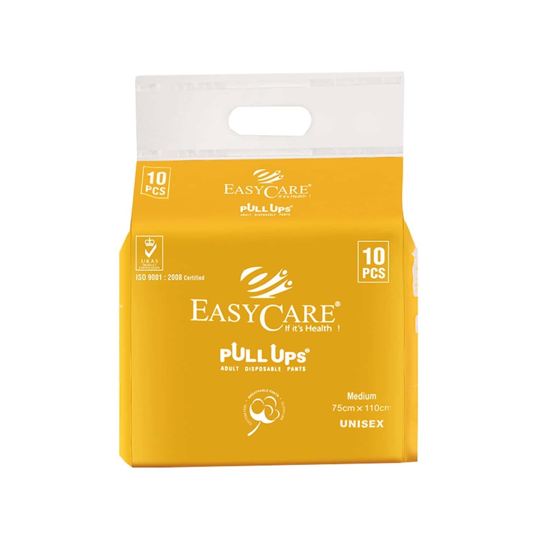 Easycare Adult Diaper Pants (pull Up) Pack Of 10 Medium (75 X 110 Cm) Fit & Flex Makes Life Easier