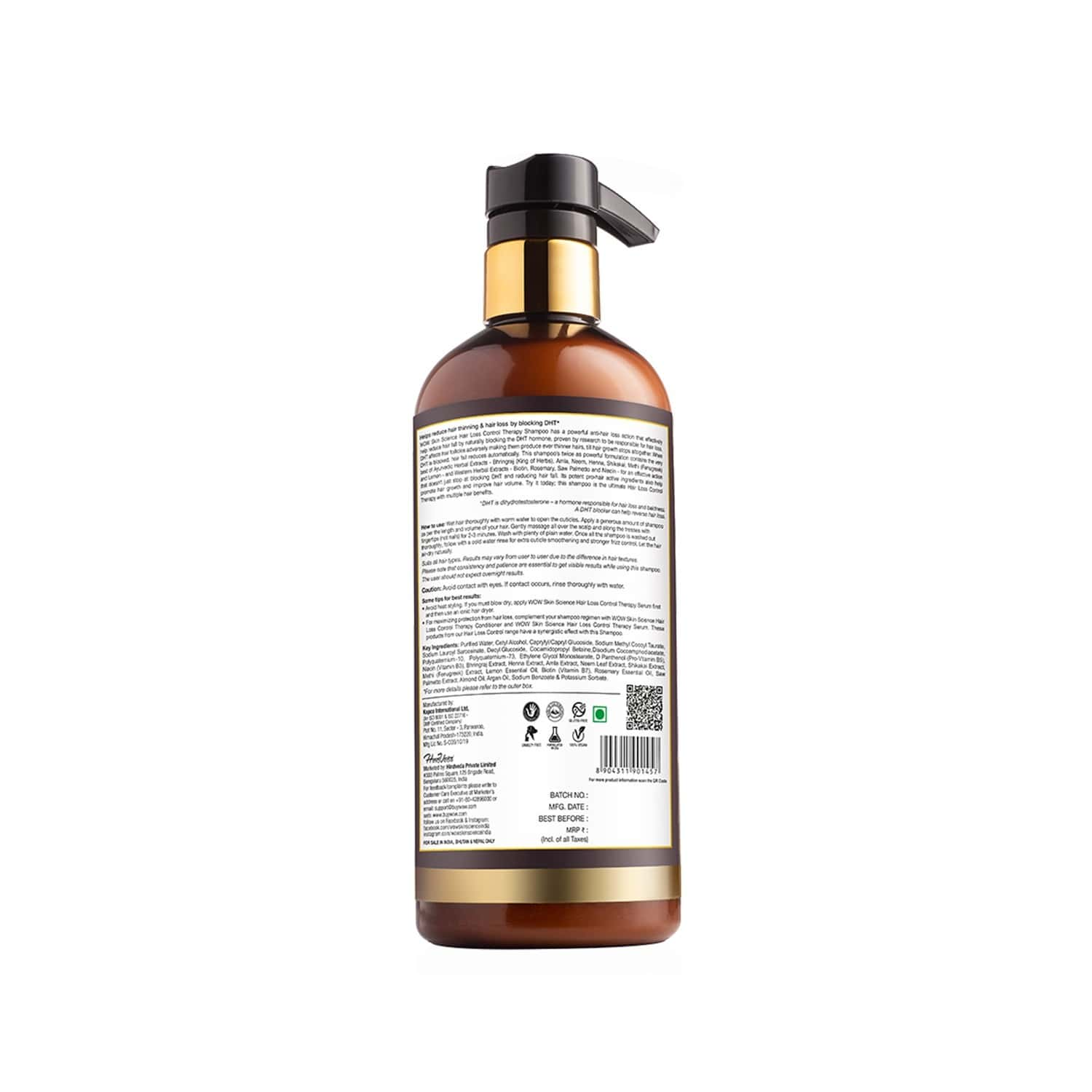 Wow Skin Science  Hair Loss Control Therapy Shampoo  Bottle Of 500 Ml