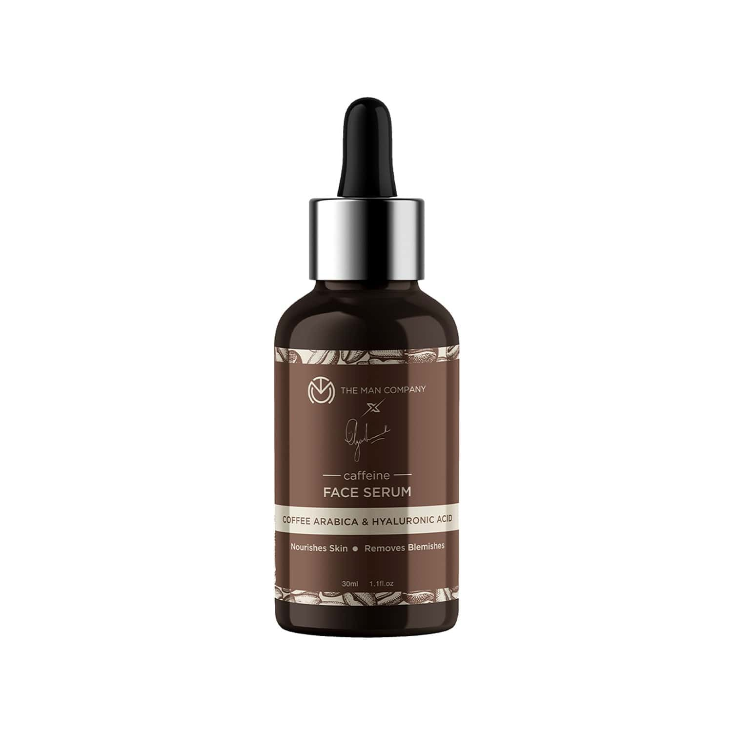 The Man Company Caffeine Face Serum By Ayushmann Khurrana With Coffee Arabica And Hyaluronic Acid - 30 Ml