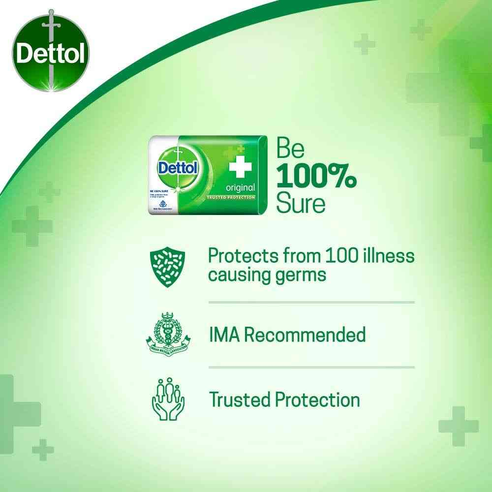 Dettol Bathing  Soap Original Wrap Of 375 G (buy 4 Get 1 Free)