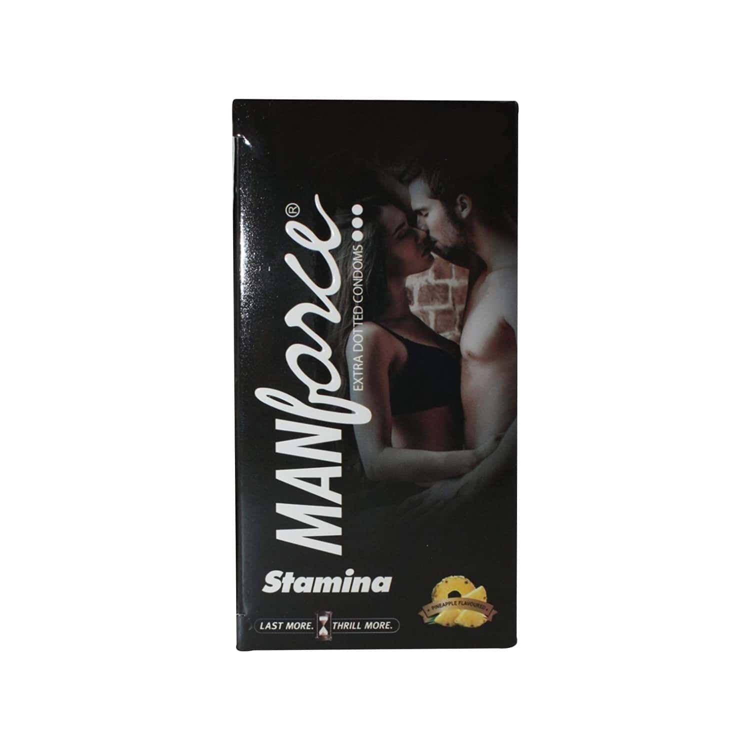 Manforce Extra Dotted Pineapple Flavour Condom 20's