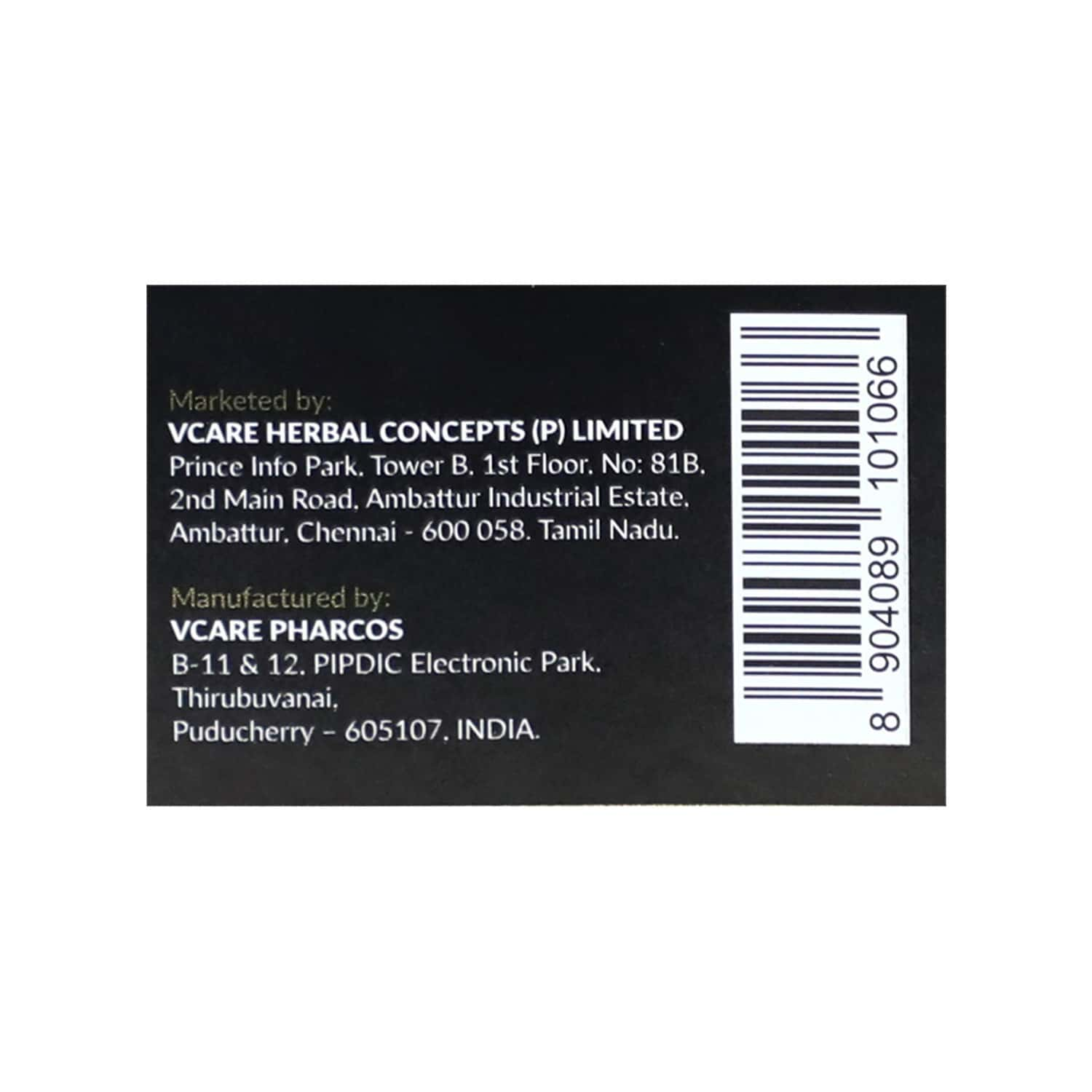 Vcare Shampoo Hair Color - Deep Brown - No Ppd - 180ml