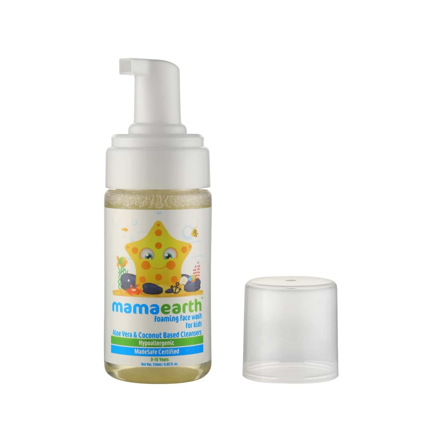 Mamaearth Foaming Baby Face Wash For Kids With Aloe Vera And Coconut Based Cleansers - 120ml