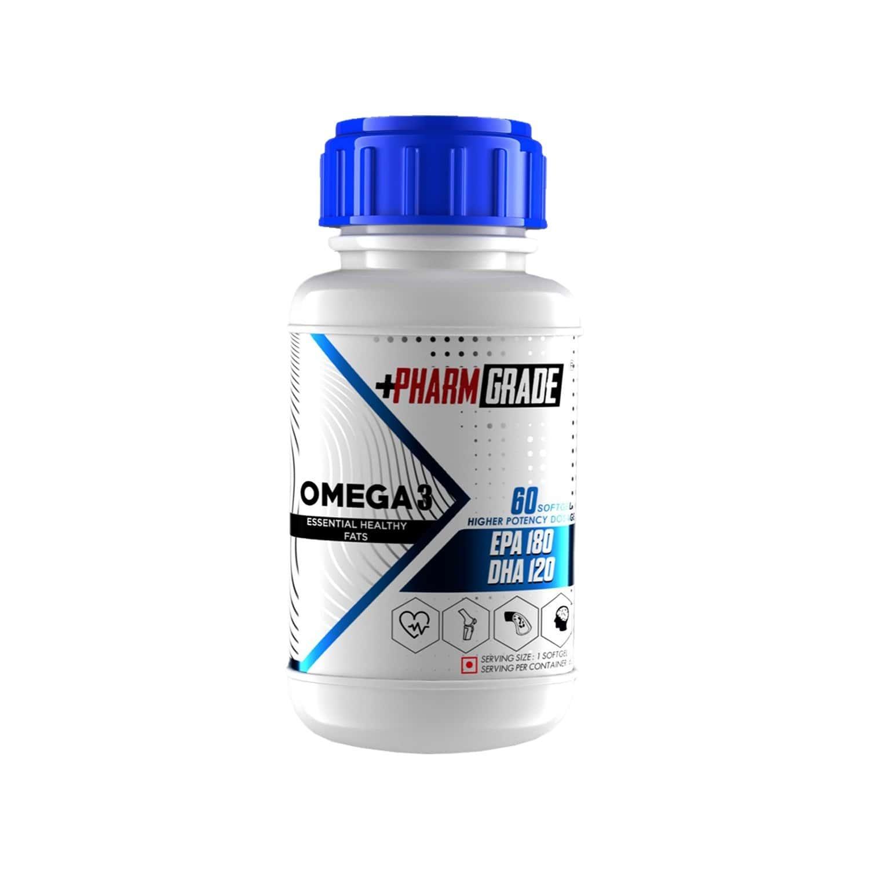 Pharmgrade Omega 3 Fish Oil - 60 Softgel