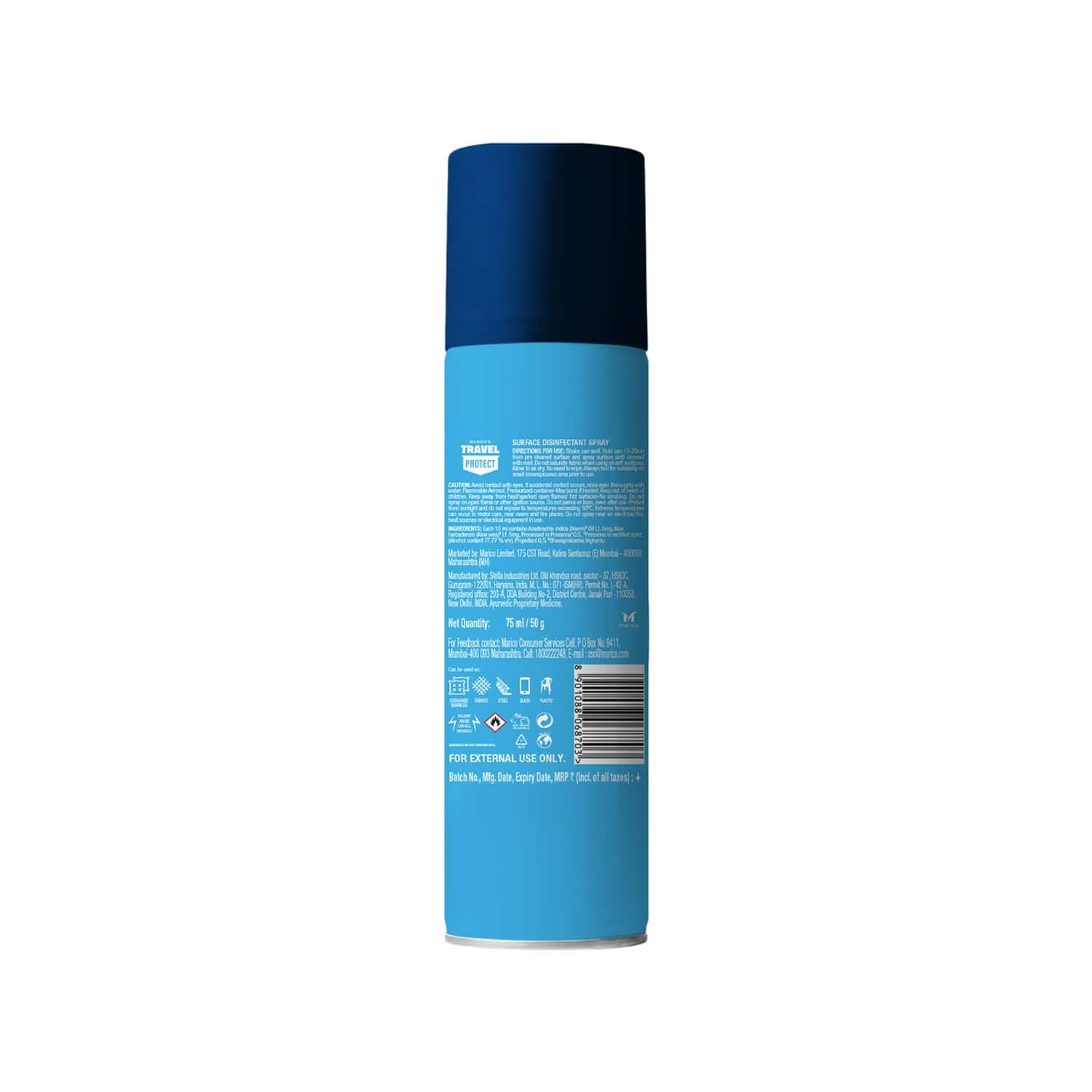 Marico's Travel Protect Surface Disinfectant Spray - 75 Ml