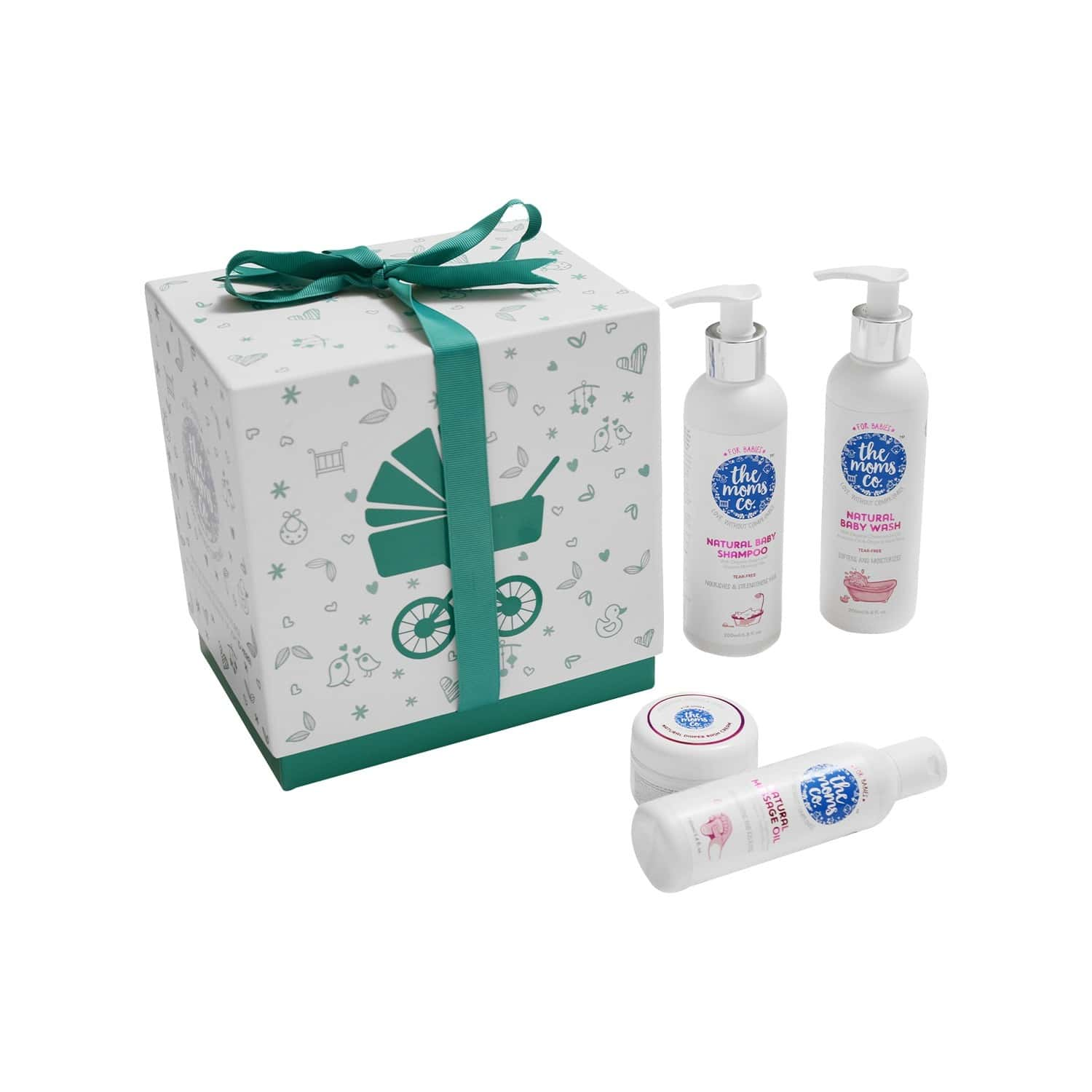 The Moms Co. Natural Baby Bath Kit Of 600 Ml