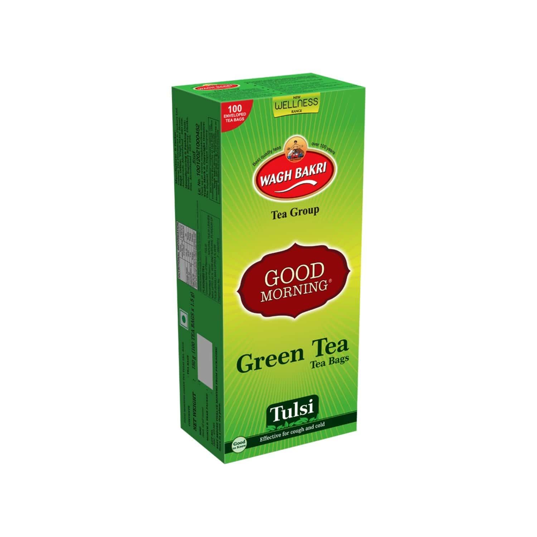 Good Morning Green Tea Tulsi Tea, 100 Tea Bags