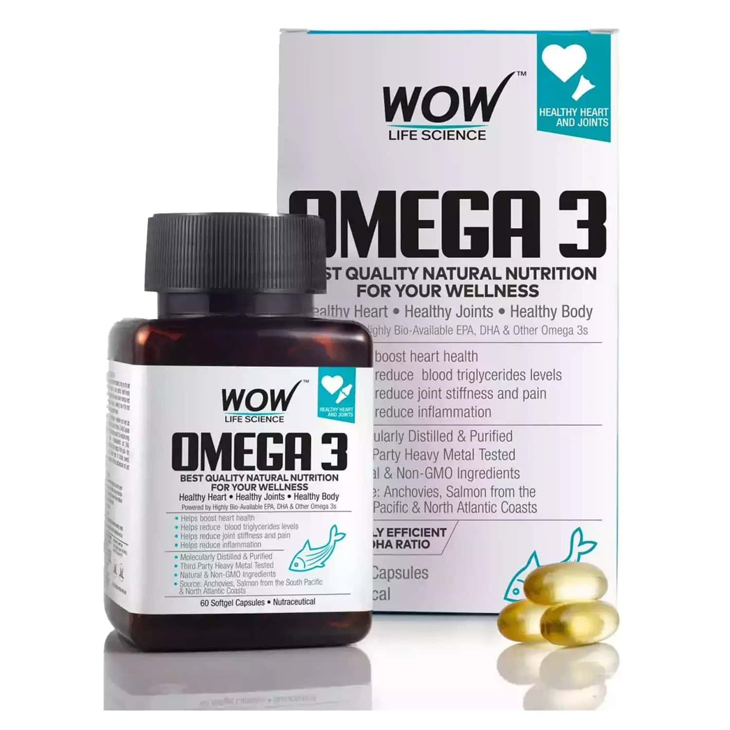 Wow Life Science Omega 3 Capsules Bottle Of 60