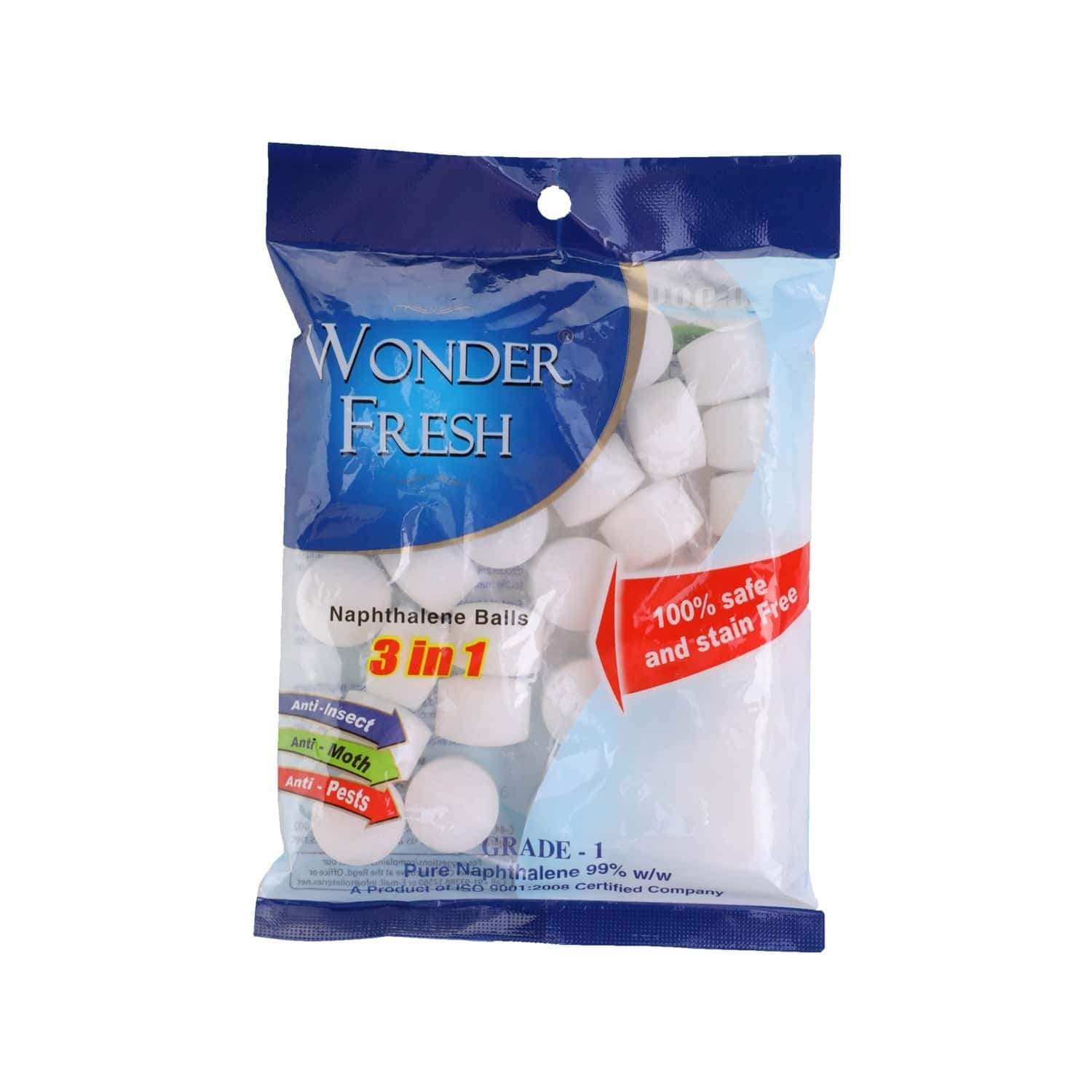 Wonder Fresh Naphthalene Balls 50 Gm