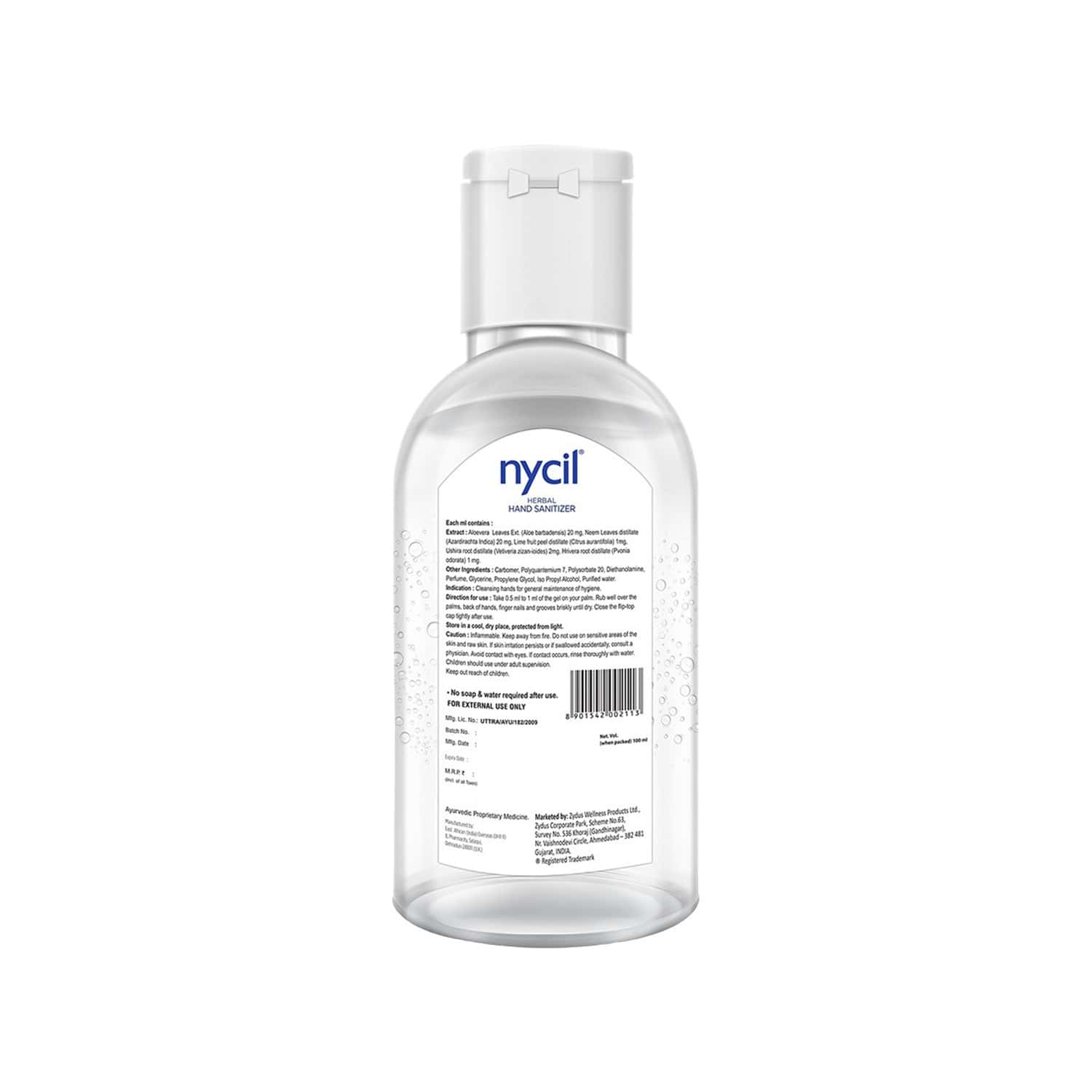Nycil Herbal Hand Sanitizer (pack Of 5) Bottle Of 50 Ml