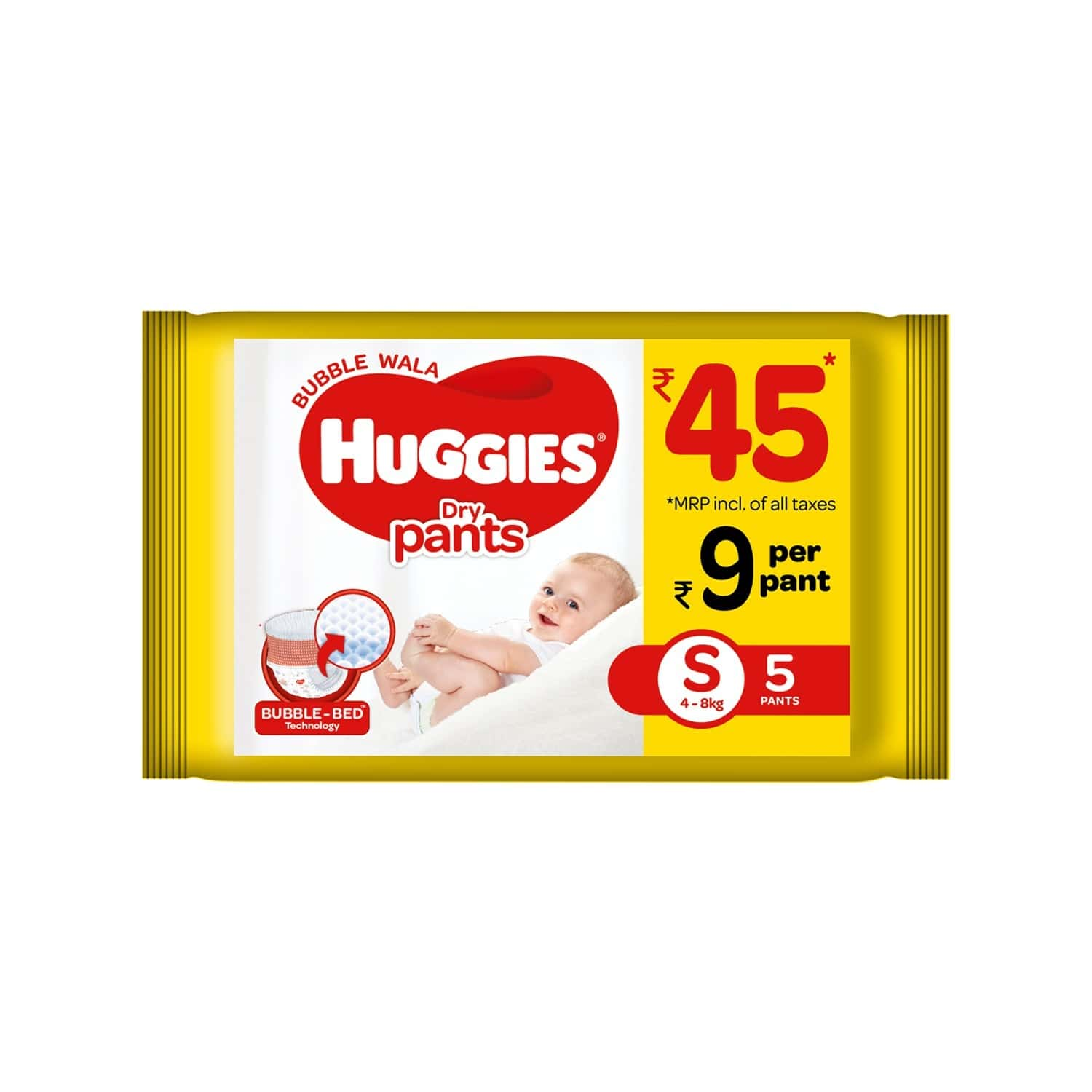 Huggies Dry Pants Diapers ( Small Size) - 5 Count