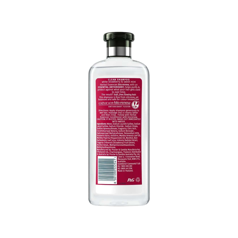 Herbal Essences Bio Renew Clean White Strawberry And Sweer Mint Shampoo - 400ml