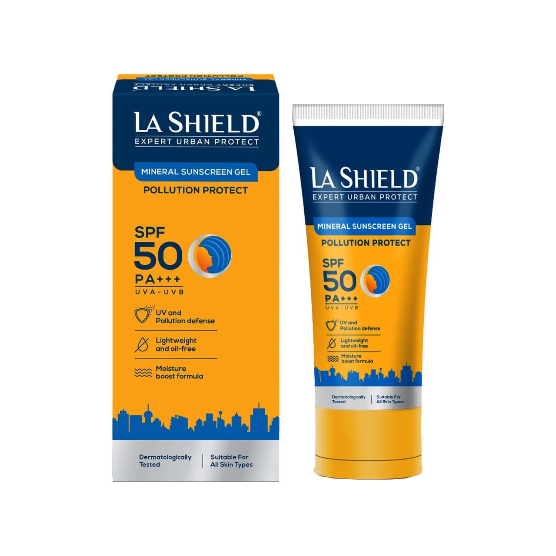 La Shield Pollution Protect Mineral Sunscreen Gel Spf 50 - 50gm