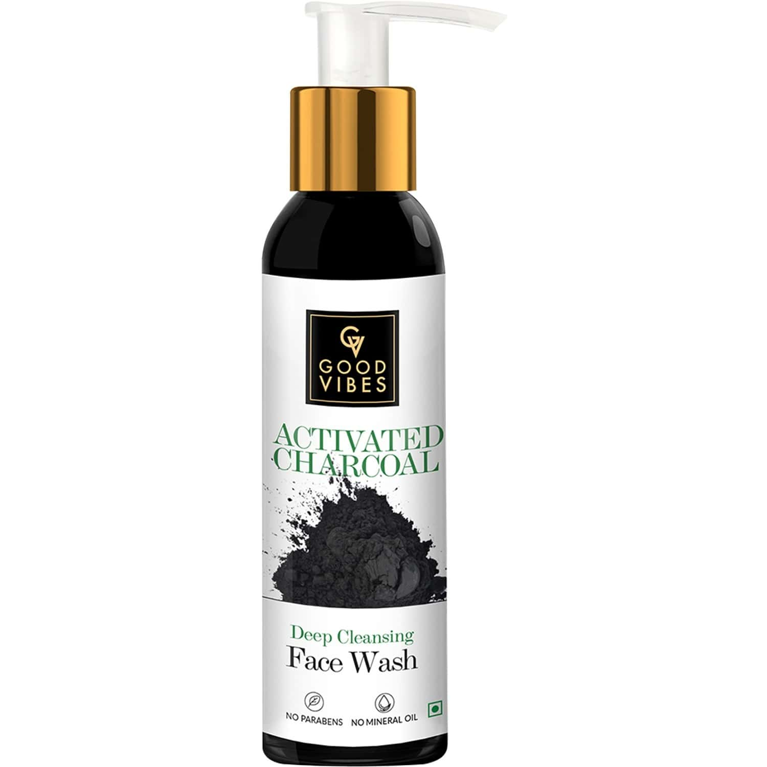 Good Vibes Deep Cleansing Face Wash - Activated Charcoal -120 Ml