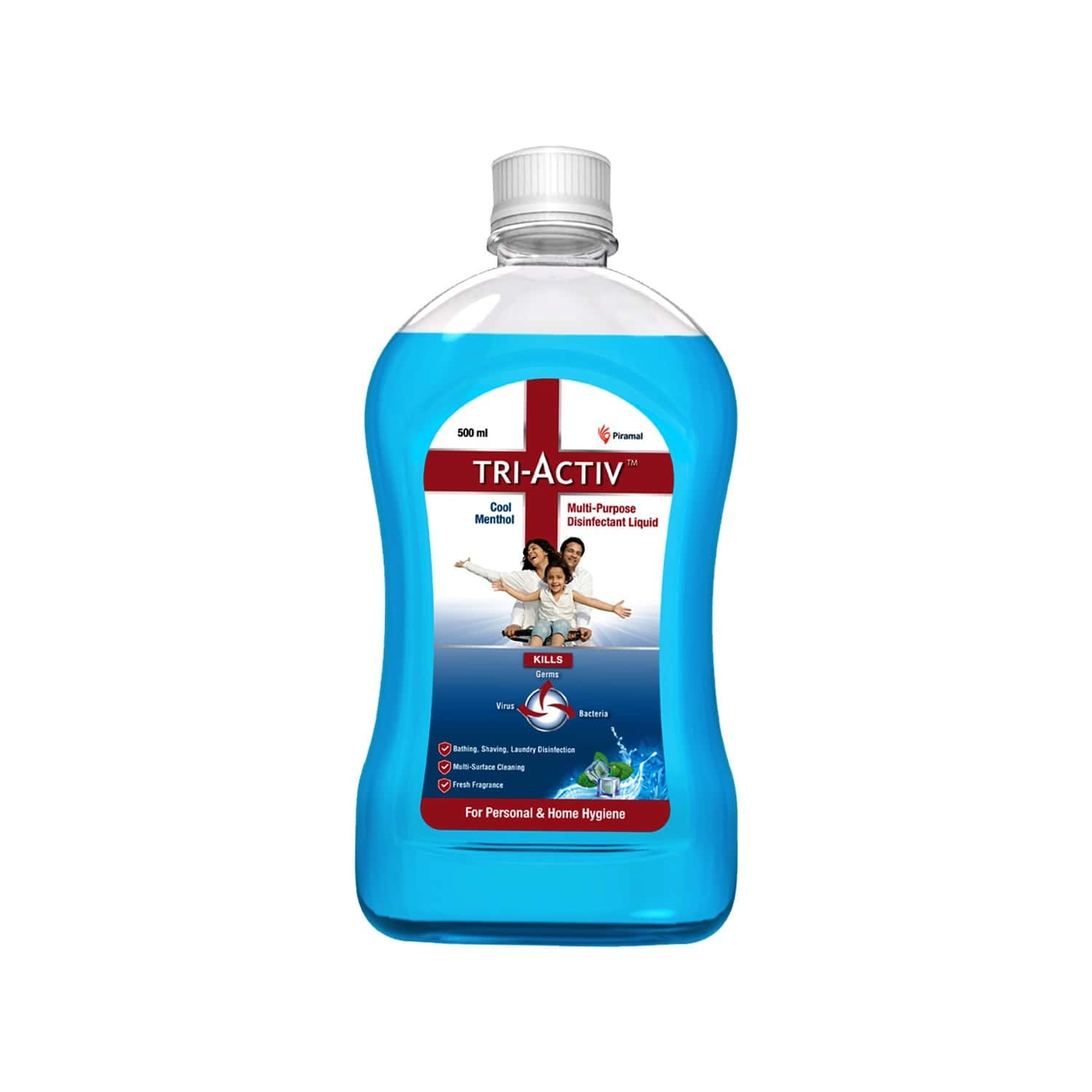 Tri-activ Multipurpose Disinfectant Liquid For Personal And Home Hygiene ( Cool Menthol ) - 500ml