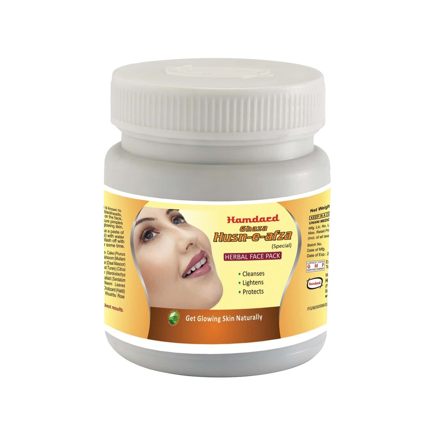 Hamdard Ghaza Husn-e-afza (special) Herbal Face Pack - 100g