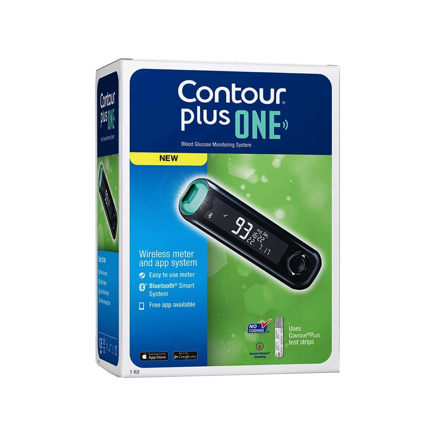 Contour Plus One Glucometer Kit (with Free 25 Strips)