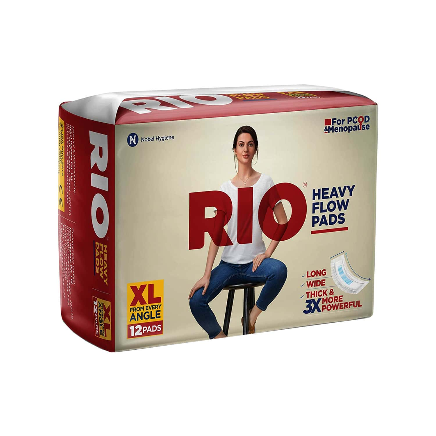 Rio Heavy Flow Pads - Pack Of 12