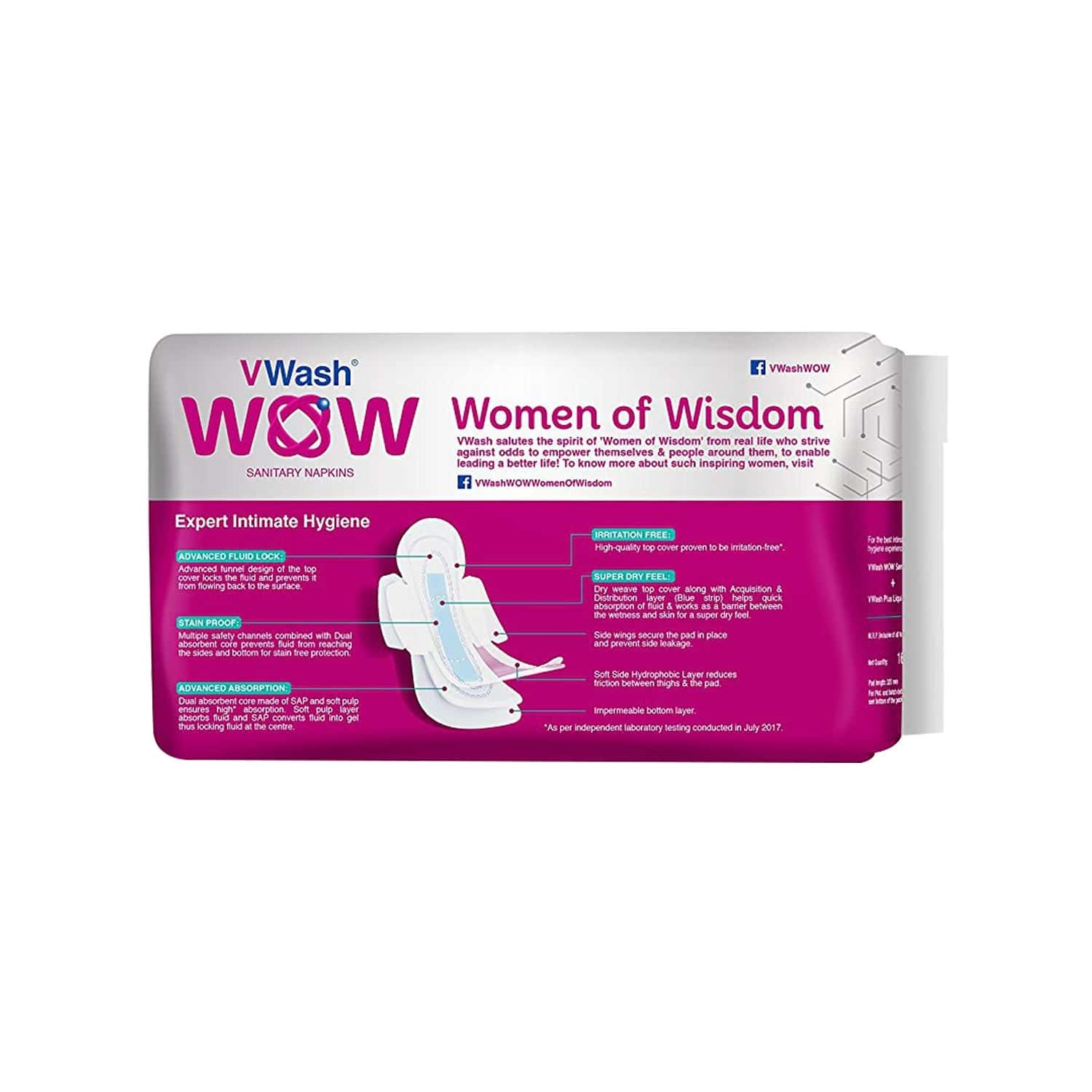 Vwash Wow Maxi Size Xl Sanitary Pads Pack Of 16