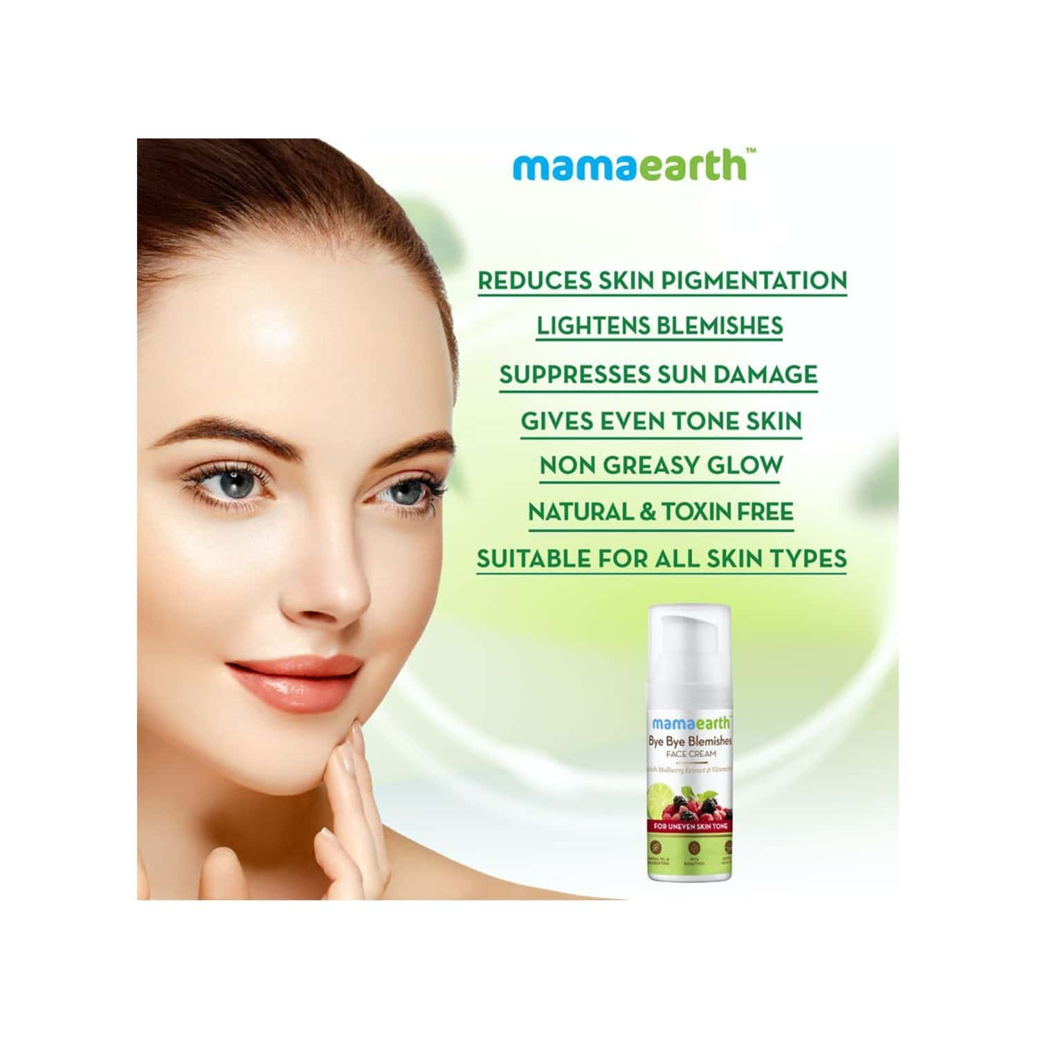Mamaearth Bye Bye Blemishes For Pigmentation, Sun Damage & Spots Correction - 50ml