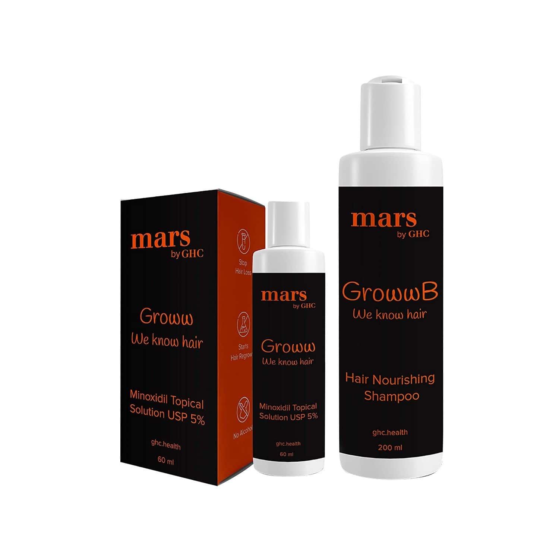 Mars By Ghc Anti Hair Loss Kit (hair Growth Serum + Hair Fall Control Shampoo)   Hair Growth Combo