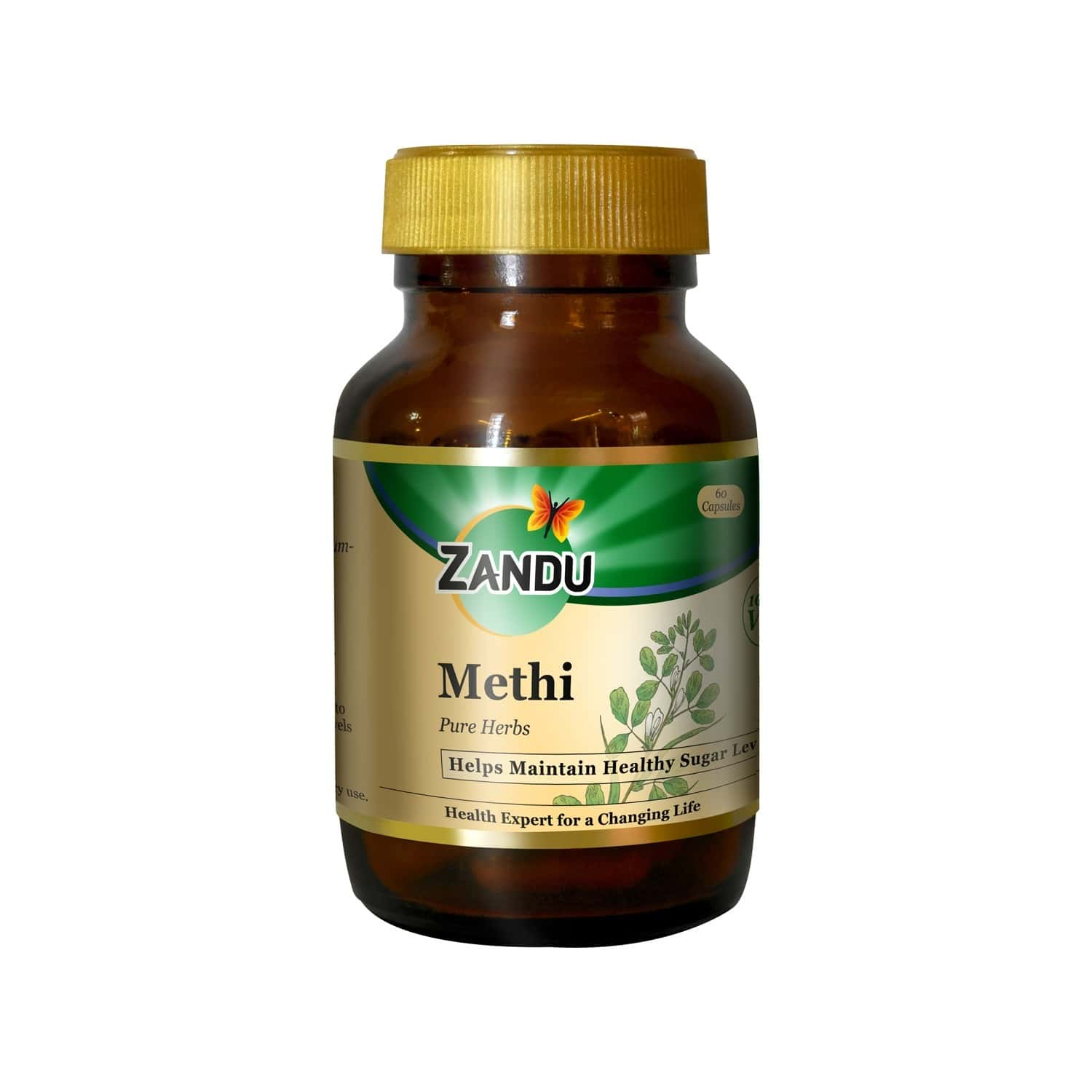 Zandu Methi  Ayurvedic Veg Capsules  Bottle Of 60