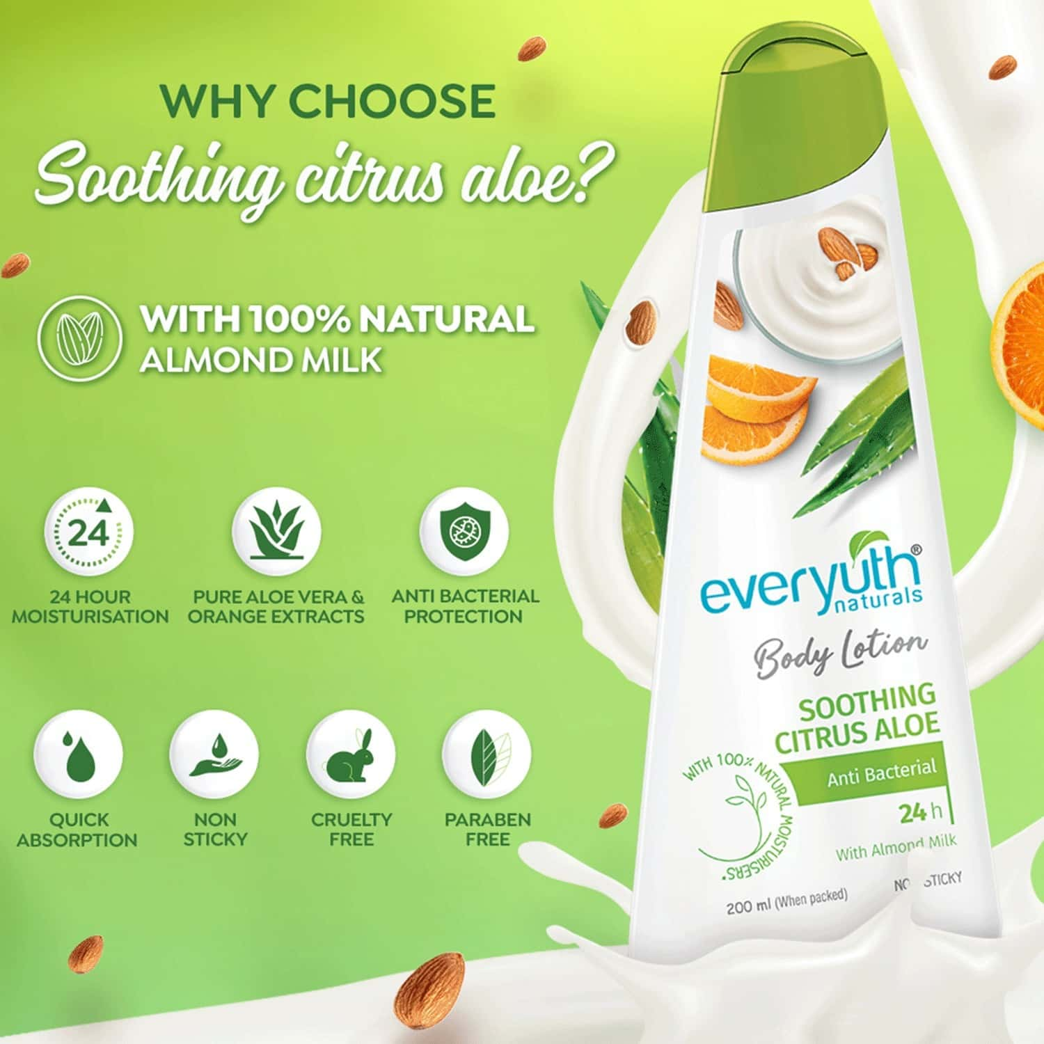 Everyuth Naturals Body Lotion Soothing Citrus Aloe 200ml