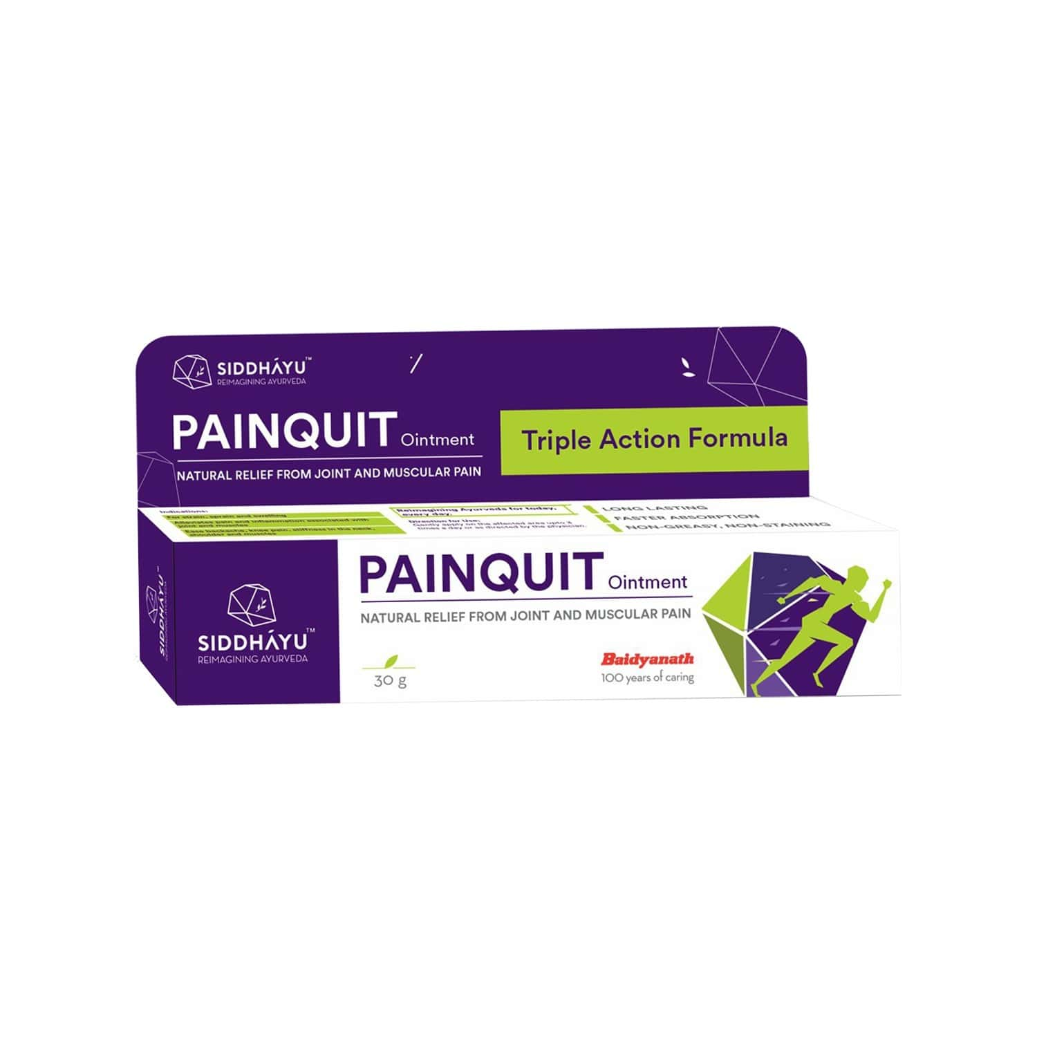 Siddhayu Painquit Ointment I Pain Relief Gel   For Joint And Muscular Pain I 30 Gm X 1